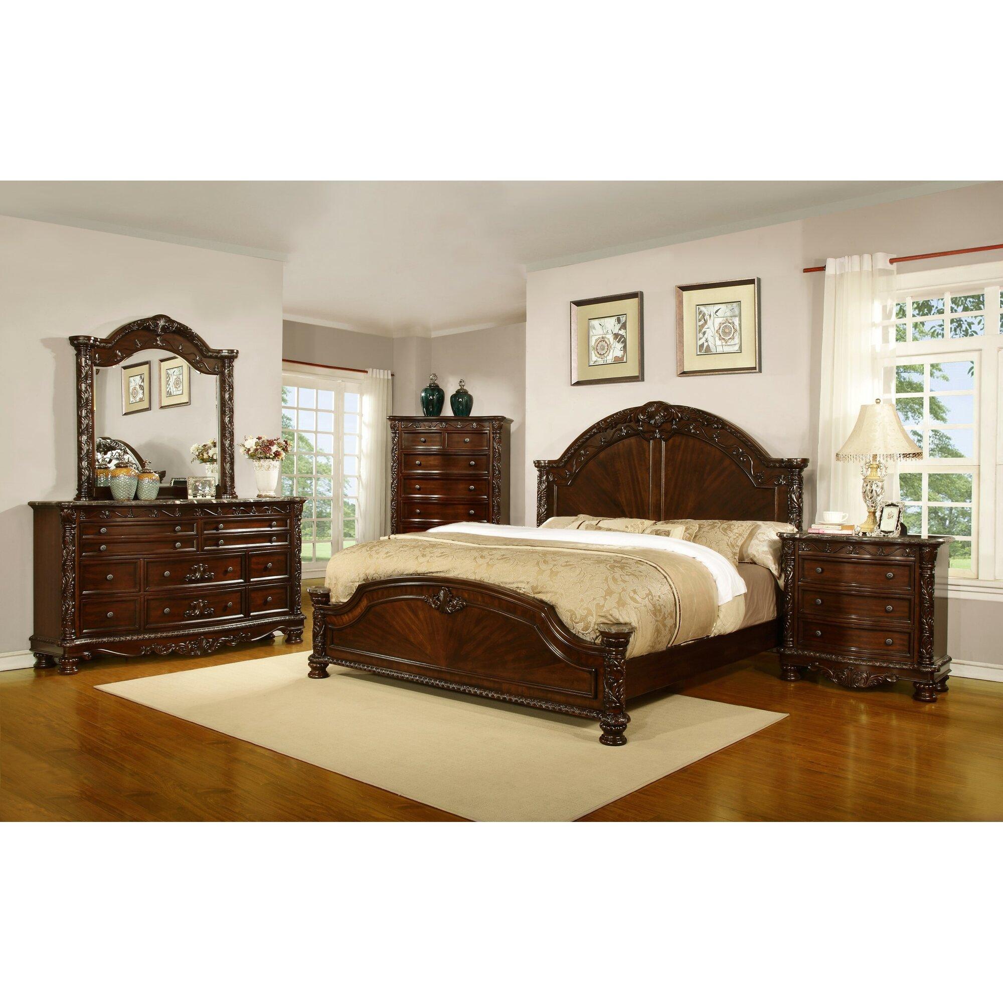 Sleigh Bedroom Sets Youll Love Wayfair - Online shaker style bedroom furniture