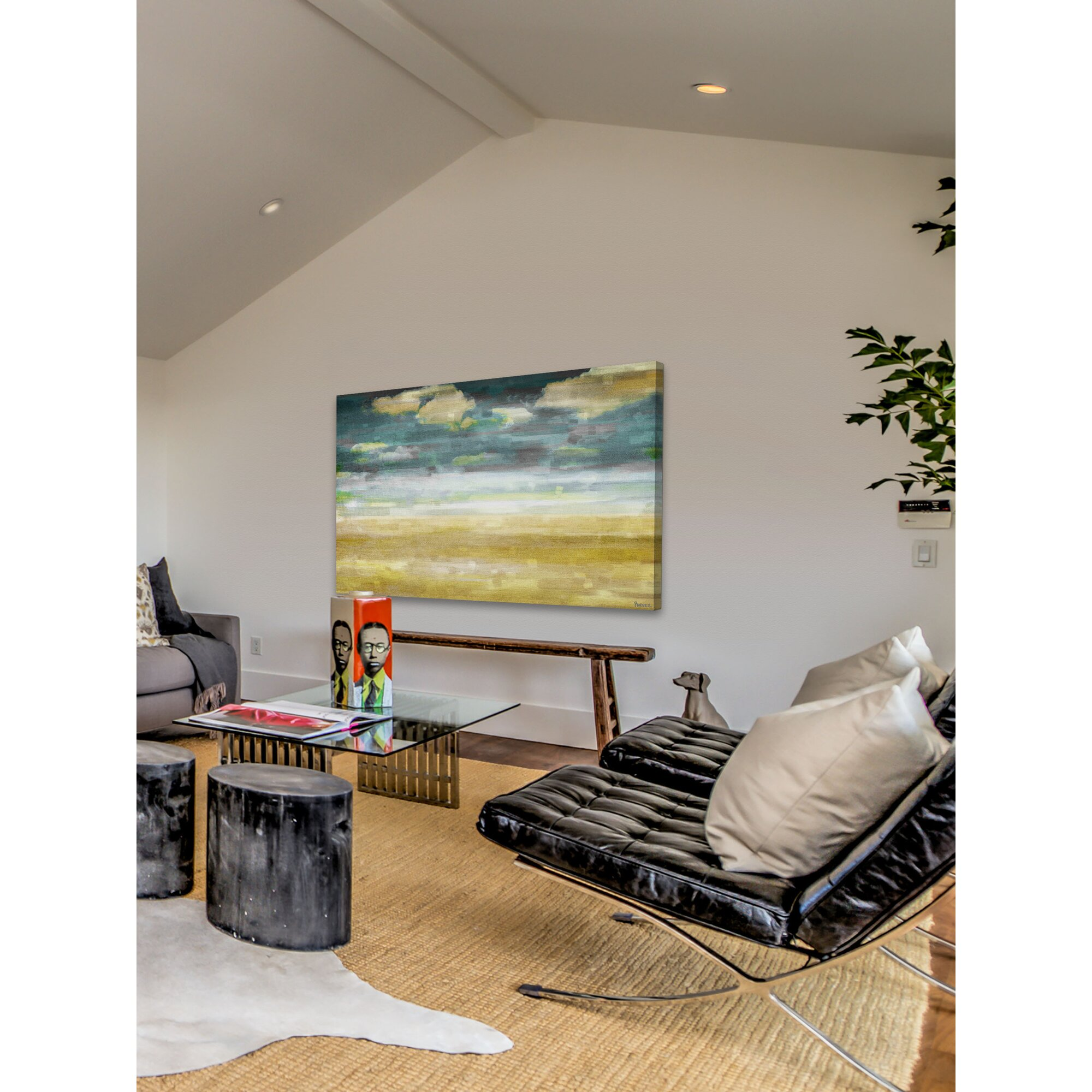 39distant sands39 by parvez taj painting print on wrapped for Best brand of paint for kitchen cabinets with wall art set of 5