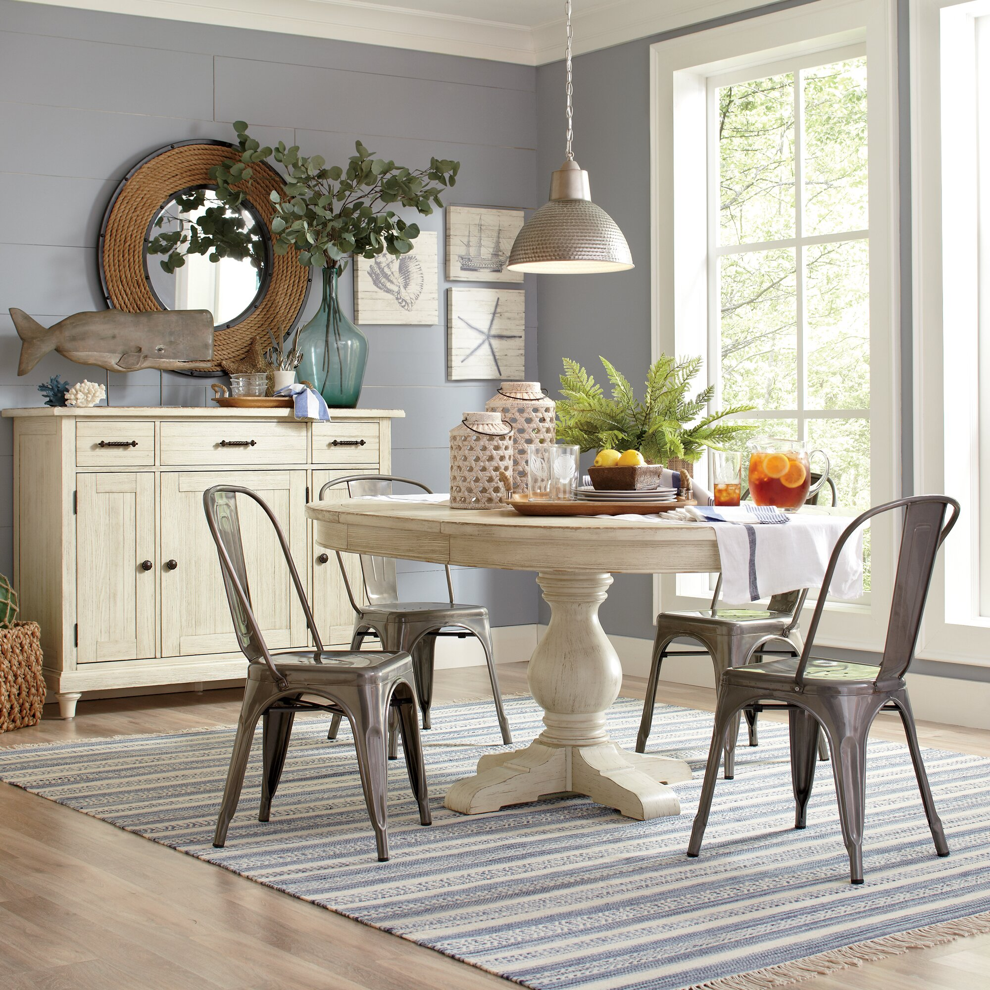 Birch Lane™ Clearbrook Round Extending Dining Table & Reviews ...