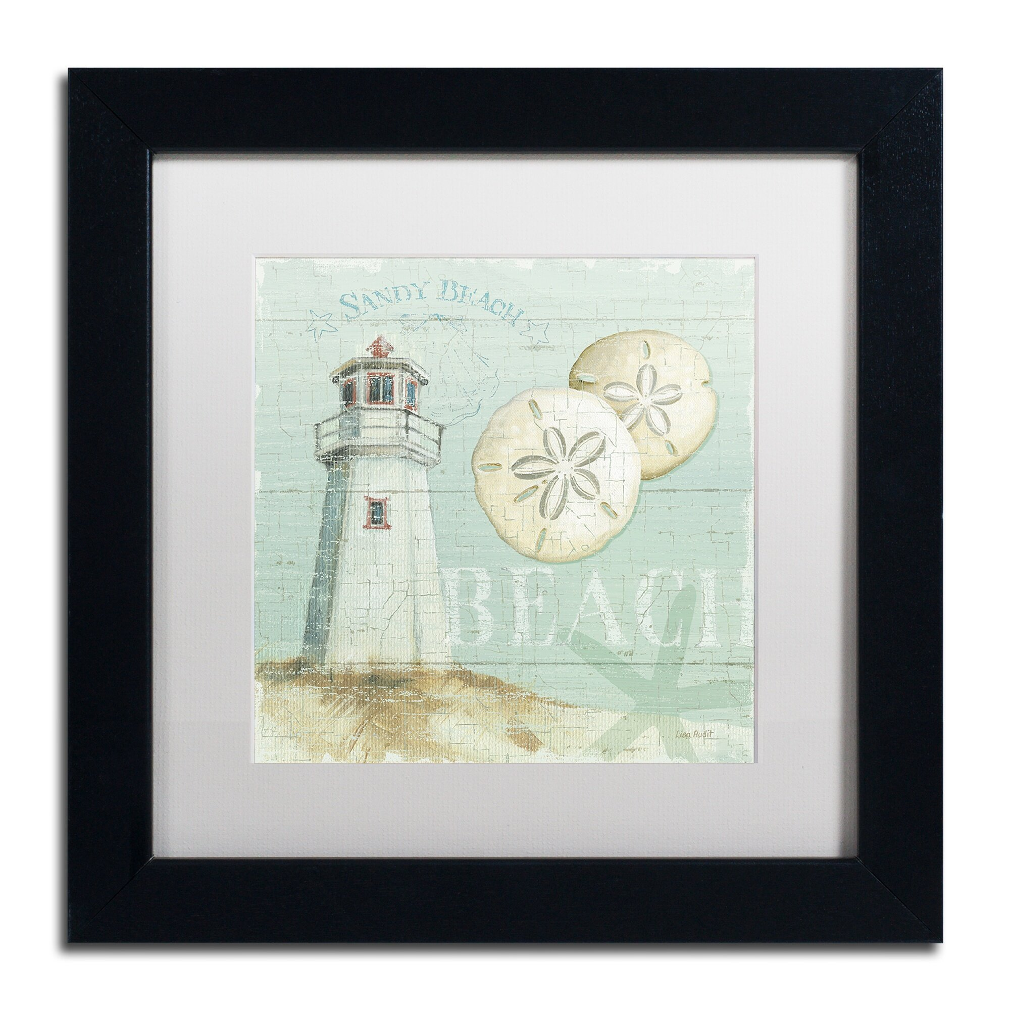 Beach House Dog Framed Art Print