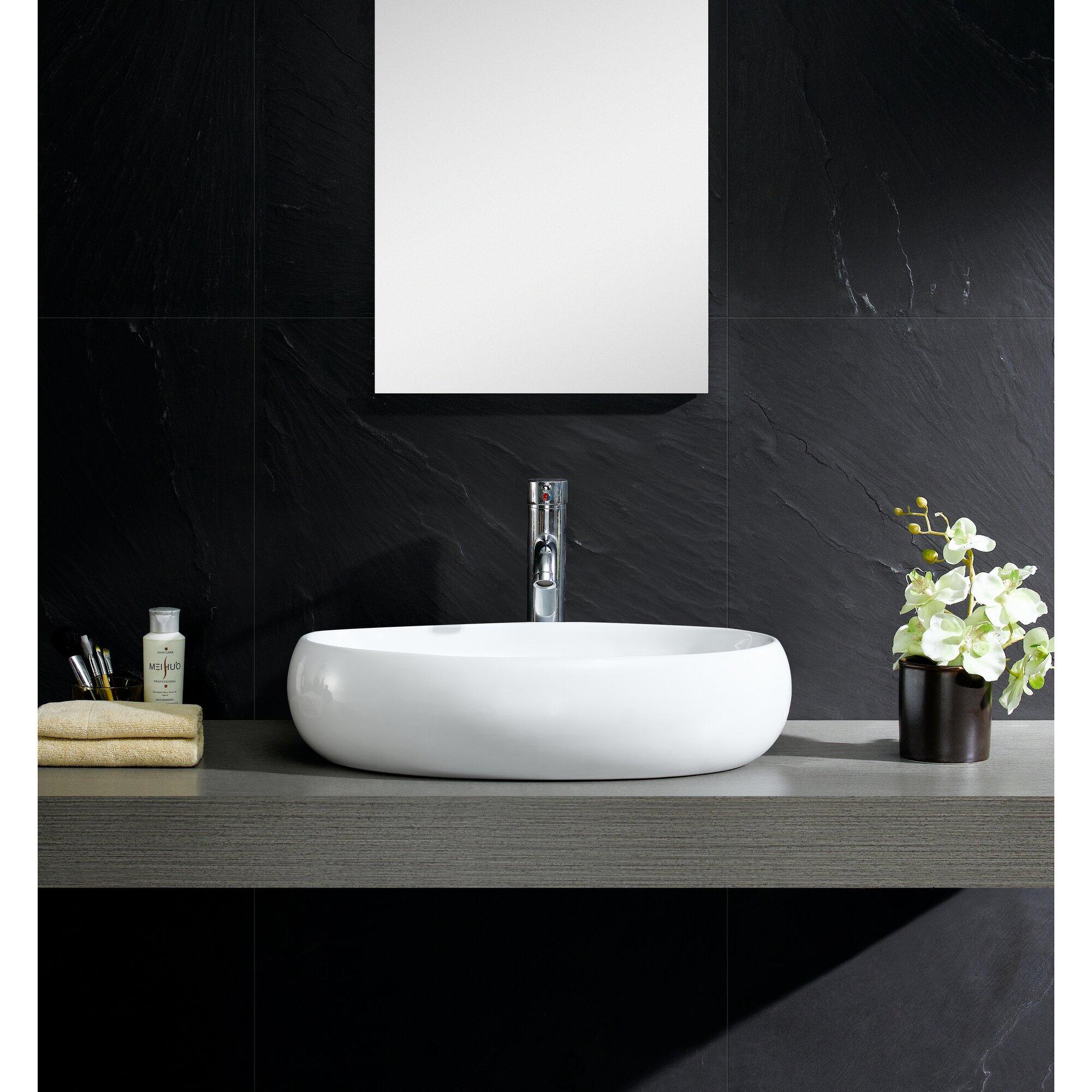Fine Fixtures Modern Oval Vessel Bathroom Sink Reviews Wayfair
