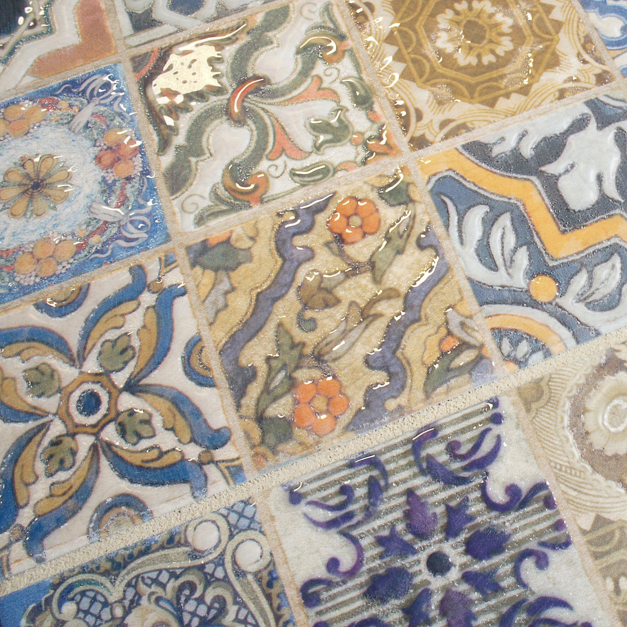 Elitetile obila 12 5 x 12 5 ceramic field tile in blue for 12 x 12 blue ceramic floor tile