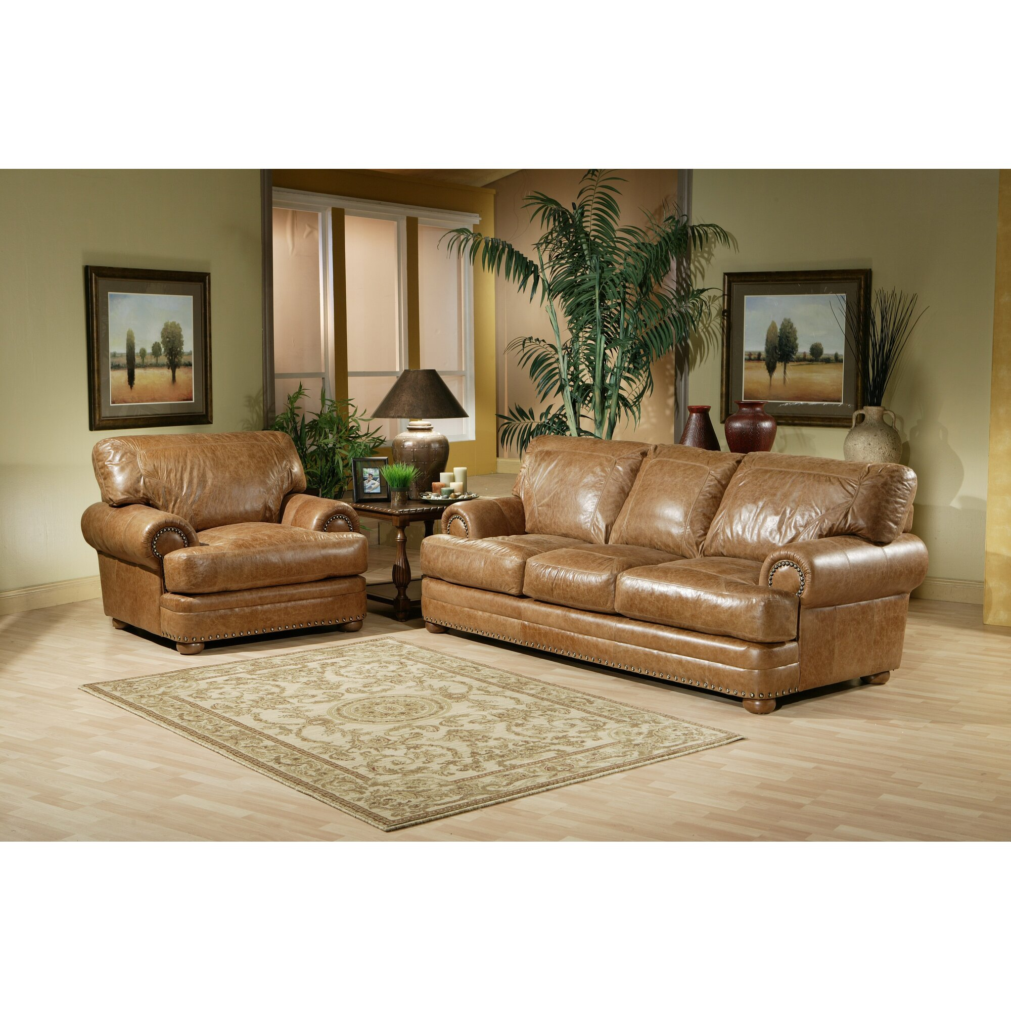 Omnia leather houston leather living room set reviews for Wg r living room sets