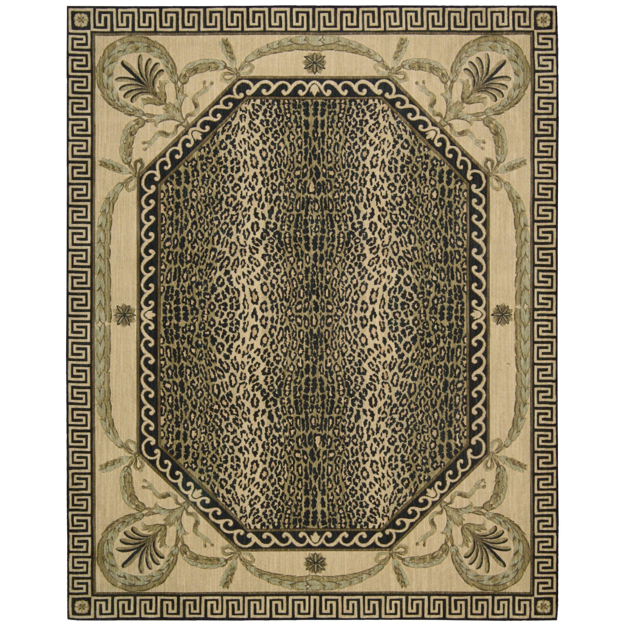 Leopard Print Rug In Dining Room: Nourison Vallencierre Multi Animal Print Area Rug
