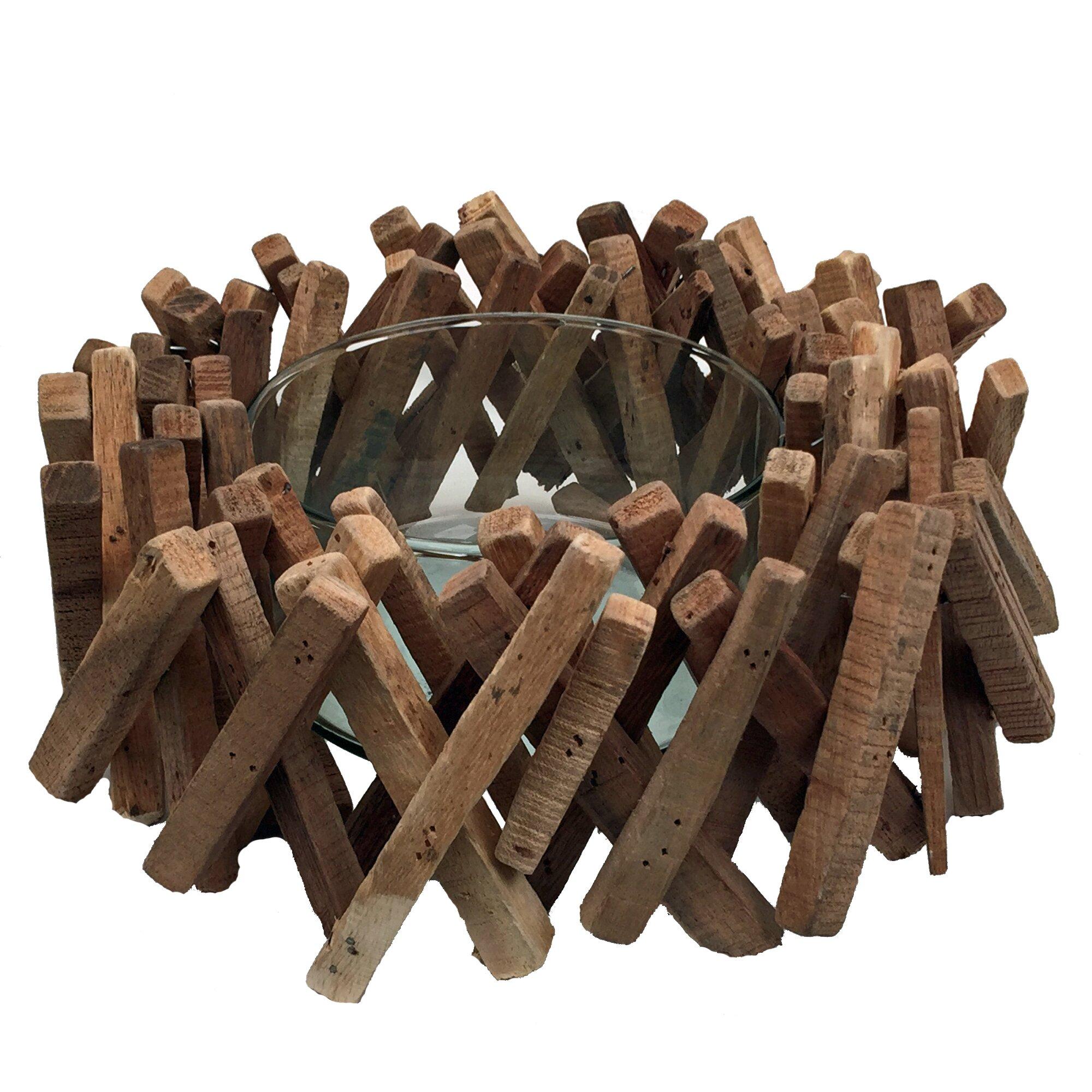 Eangee Home Design Driftwood 22 Piece Acacia Stick Bowl