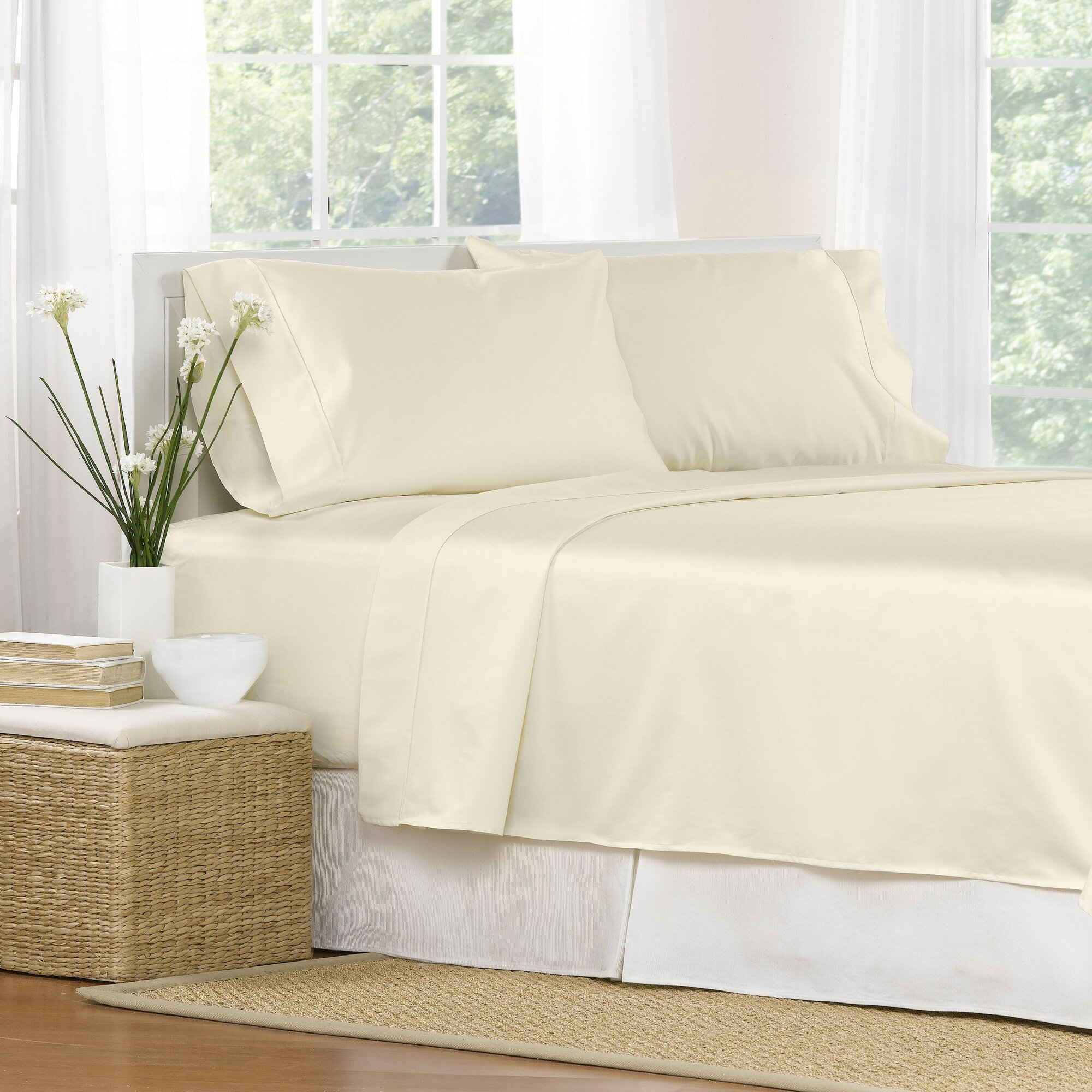 aspire linens 4 piece 1000 thread count egyptian quality cotton sheet set reviews wayfair. Black Bedroom Furniture Sets. Home Design Ideas