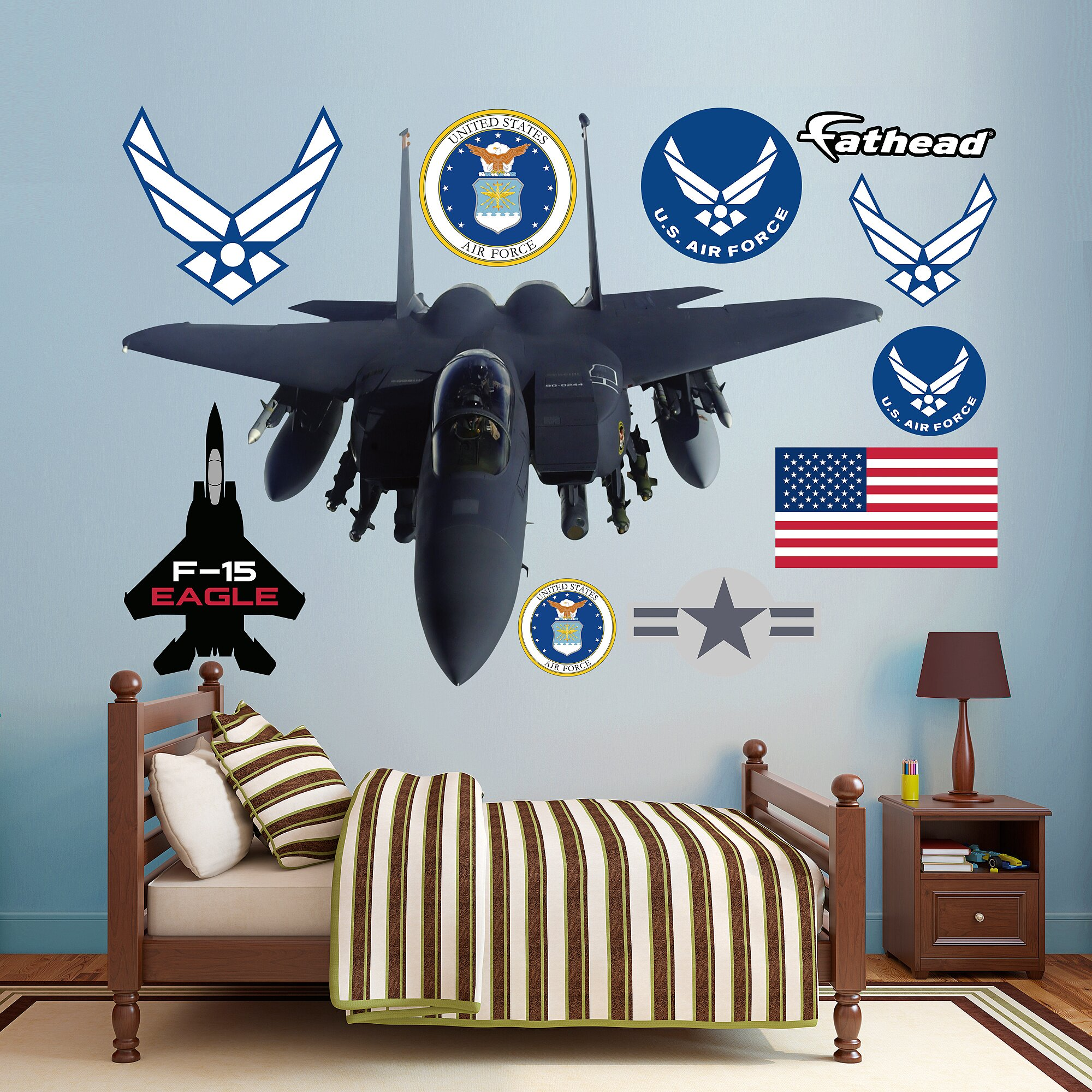 Fathead United States Air Force F-15 Eagle Peel and Stick Wall Decal | Wayfair.ca