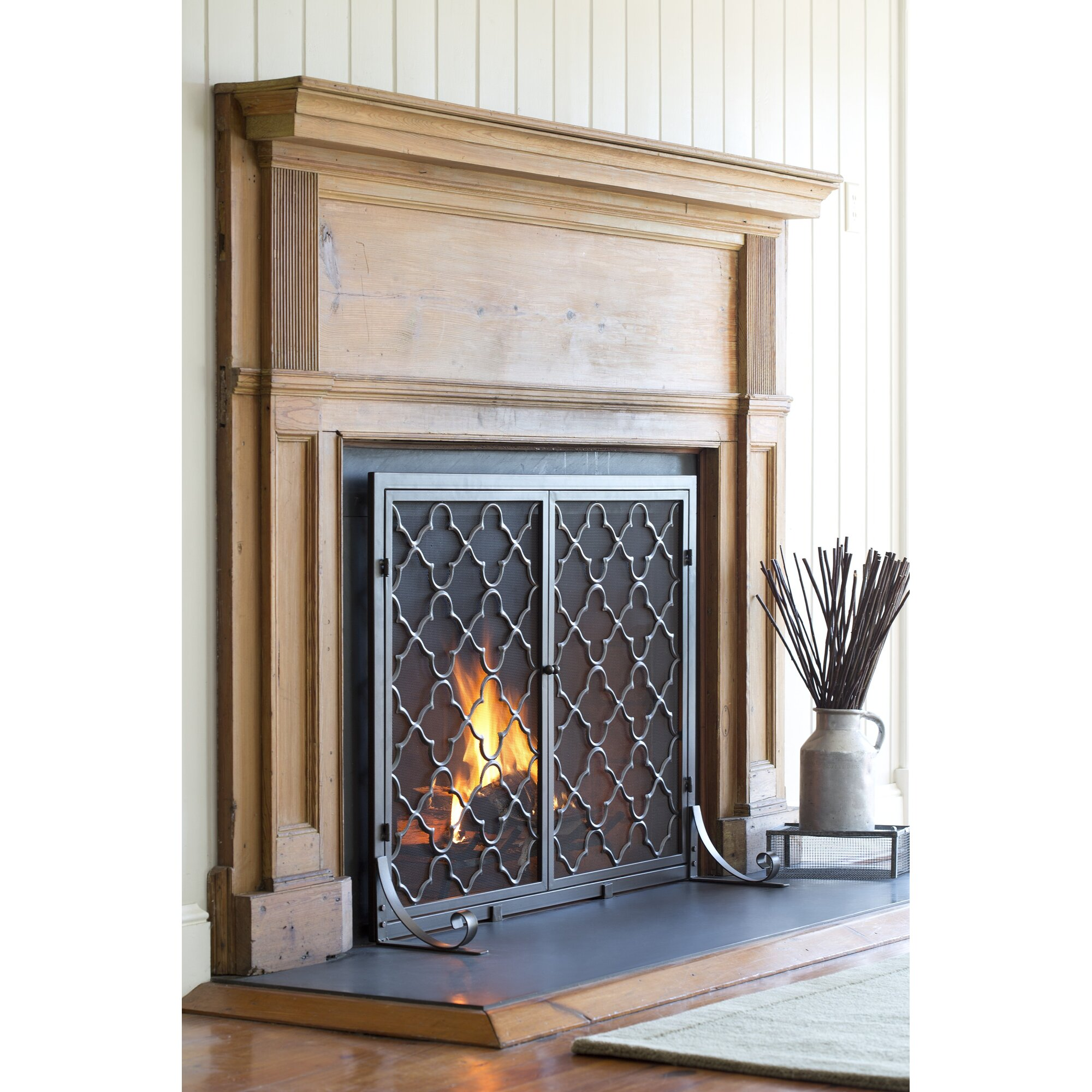 Plow Hearth Single Panel Geometric Fireplace Screen Reviews . Fireplace  Night Guard .