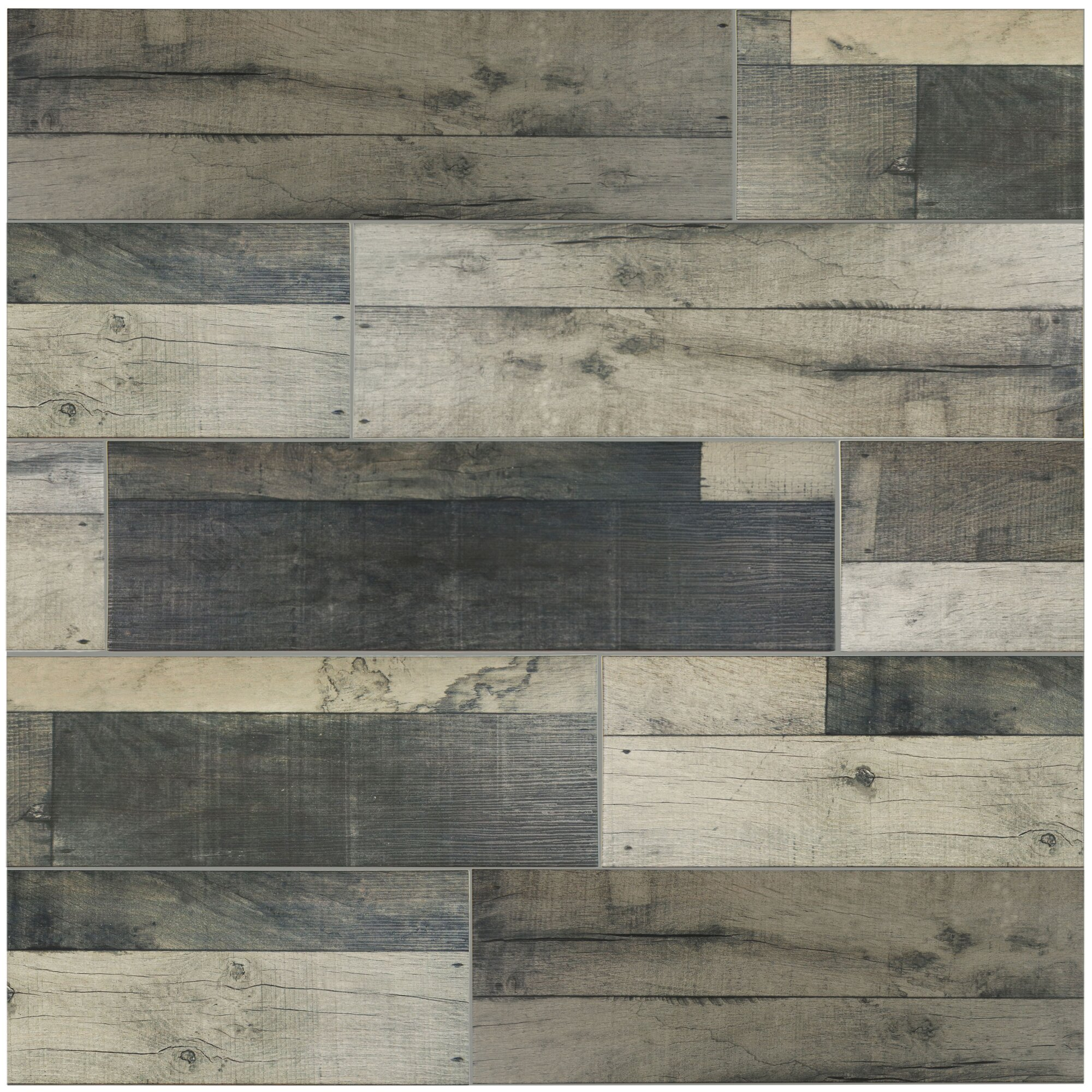 Elitetile Lena 7 88 Quot X 23 63 Quot Ceramic Wood Tile In Gris