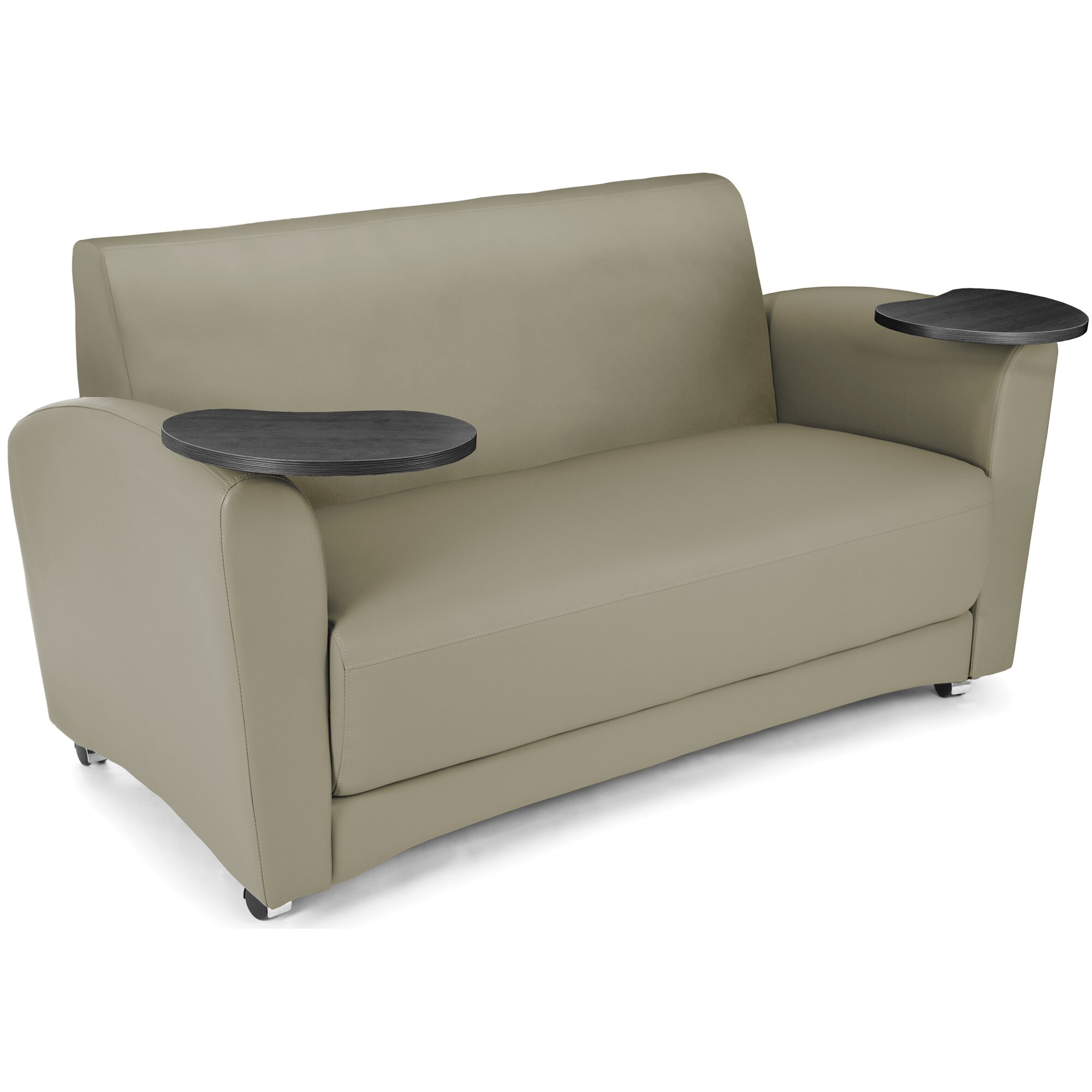 ofm interplay sofa with tablet reviews wayfair. Black Bedroom Furniture Sets. Home Design Ideas