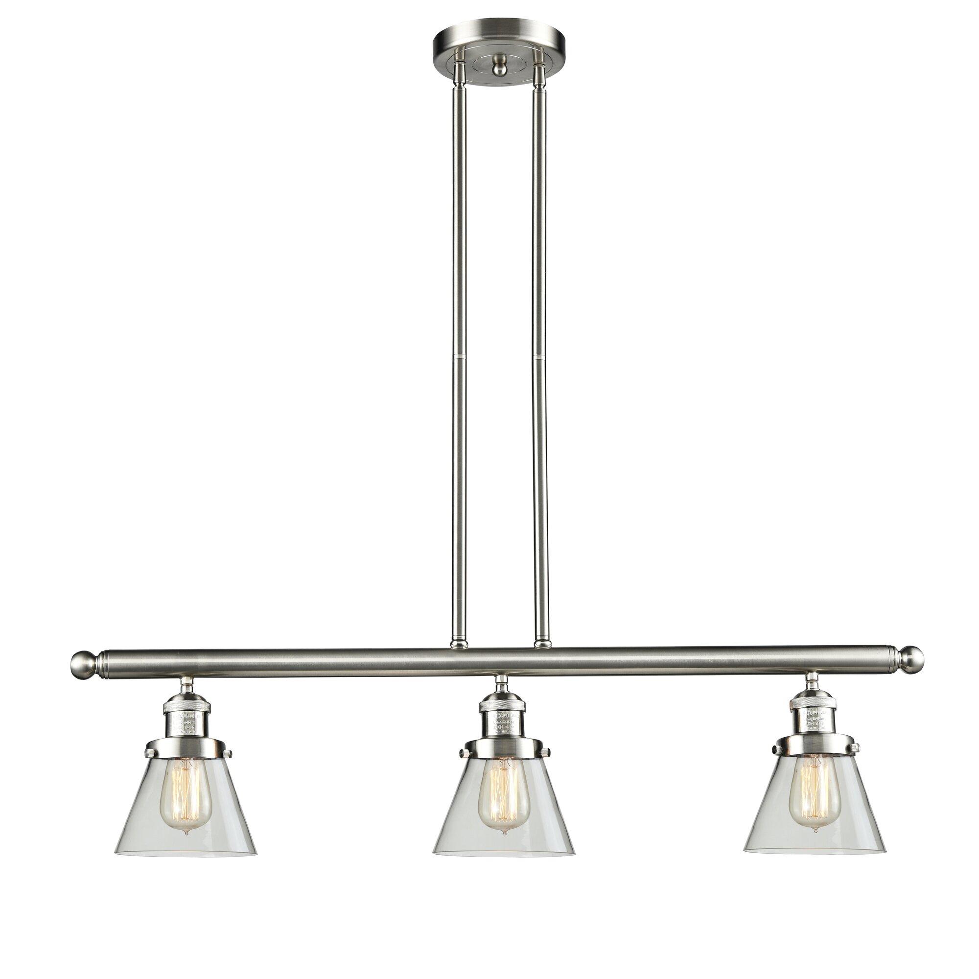 Innovations Lighting Glass Cone 3-Light Kitchen Island