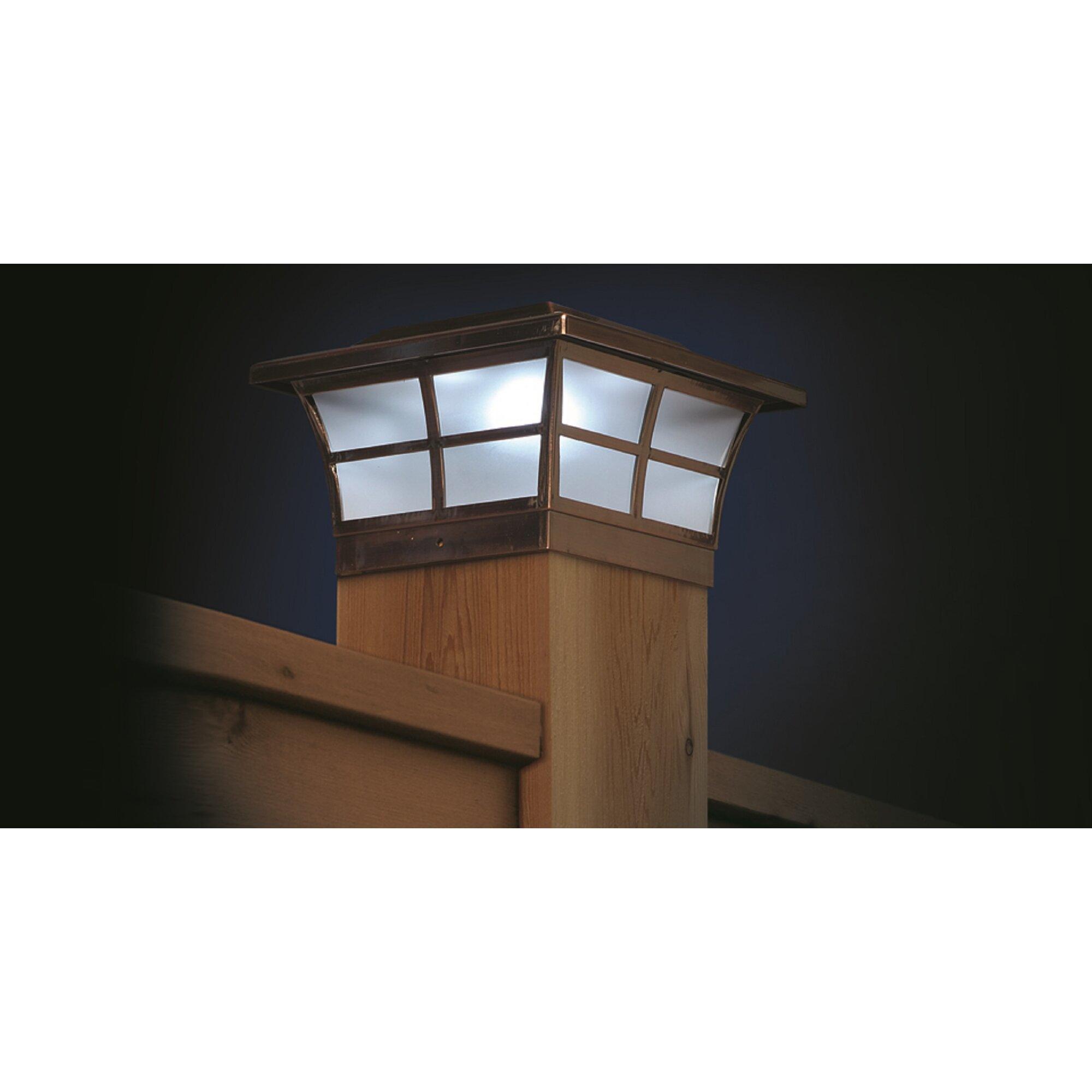 classy caps solar 2 light fence post cap reviews wayfair. Black Bedroom Furniture Sets. Home Design Ideas