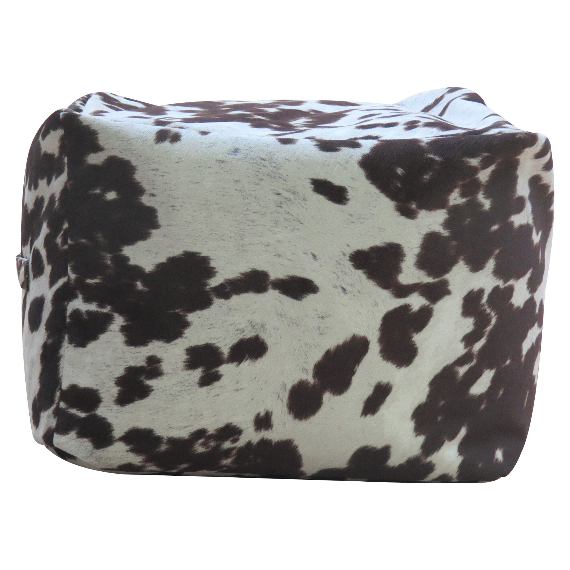 Fox Hill Trading Premiere Home Cowhide Pouf Footstool