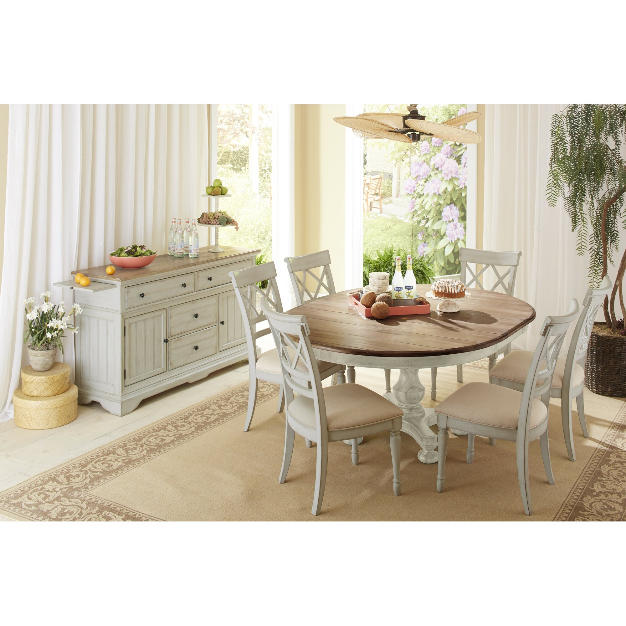 Cottage Dining Room Sets: Cresent Furniture Cottage 7 Piece Dining Set & Reviews