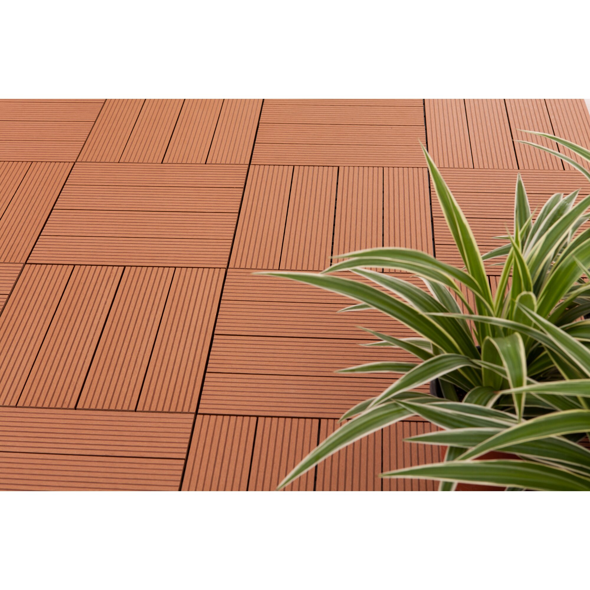 Vifah Composite Teak 12 Quot X 12 Quot Interlocking Deck Tiles