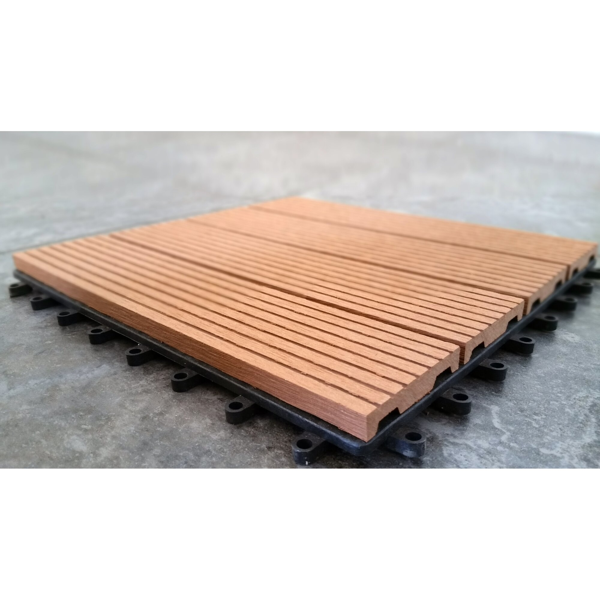 Vifah composite teak quot interlocking deck tiles