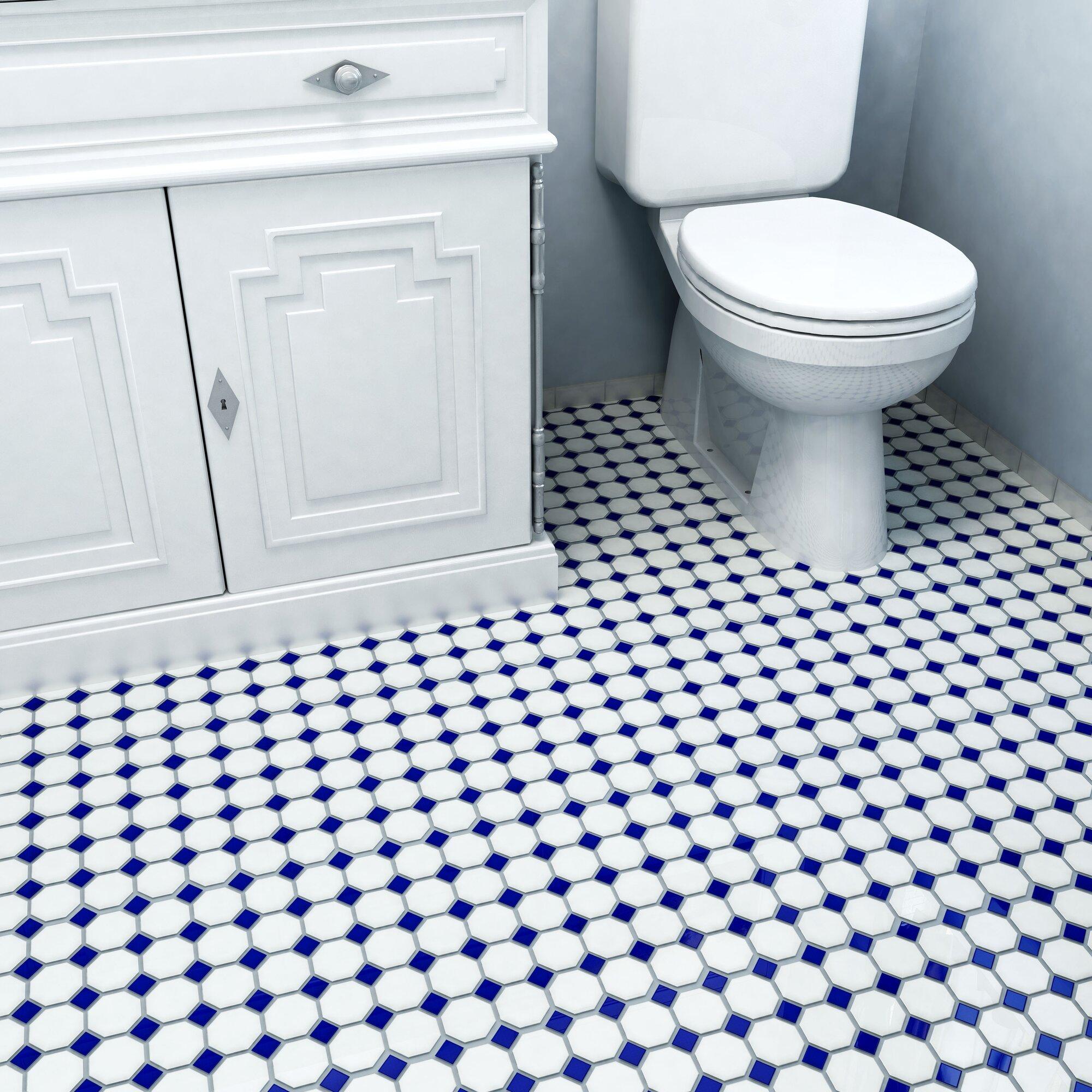 1970s Bathroom Tiles: EliteTile Retro Random Sized Porcelain Mosaic Tile In