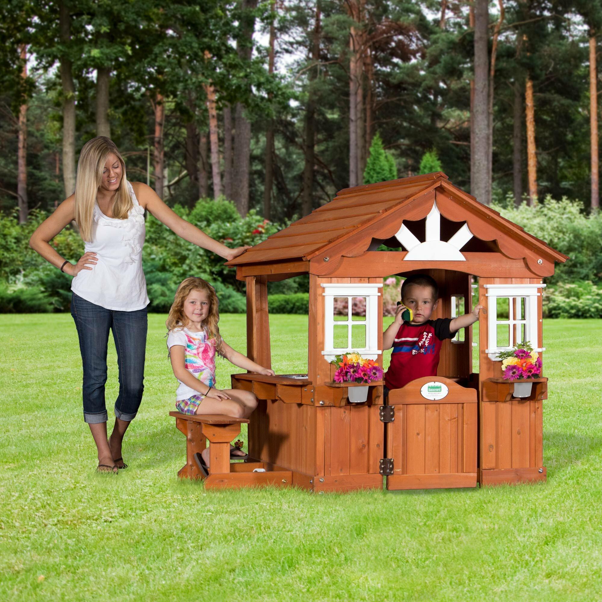 Backyard Discovery Scenic Playhouse & Reviews | Wayfair