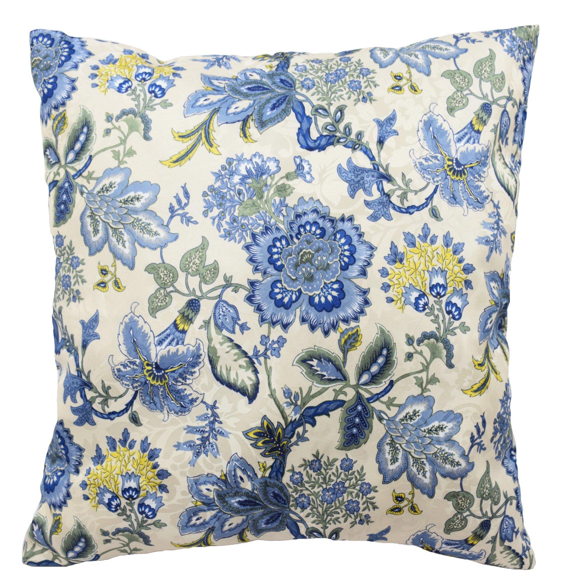 navarra floral decorative throw pillow - Decorative Throw Pillows