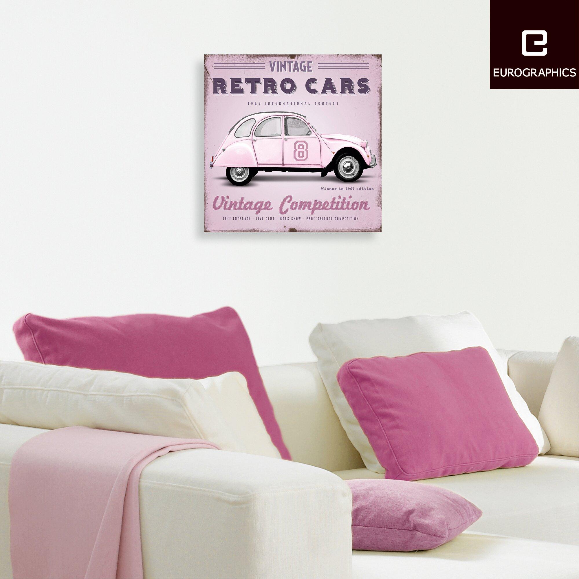 Eurographics Retro Cars by Design Studio Wall Art Reviews