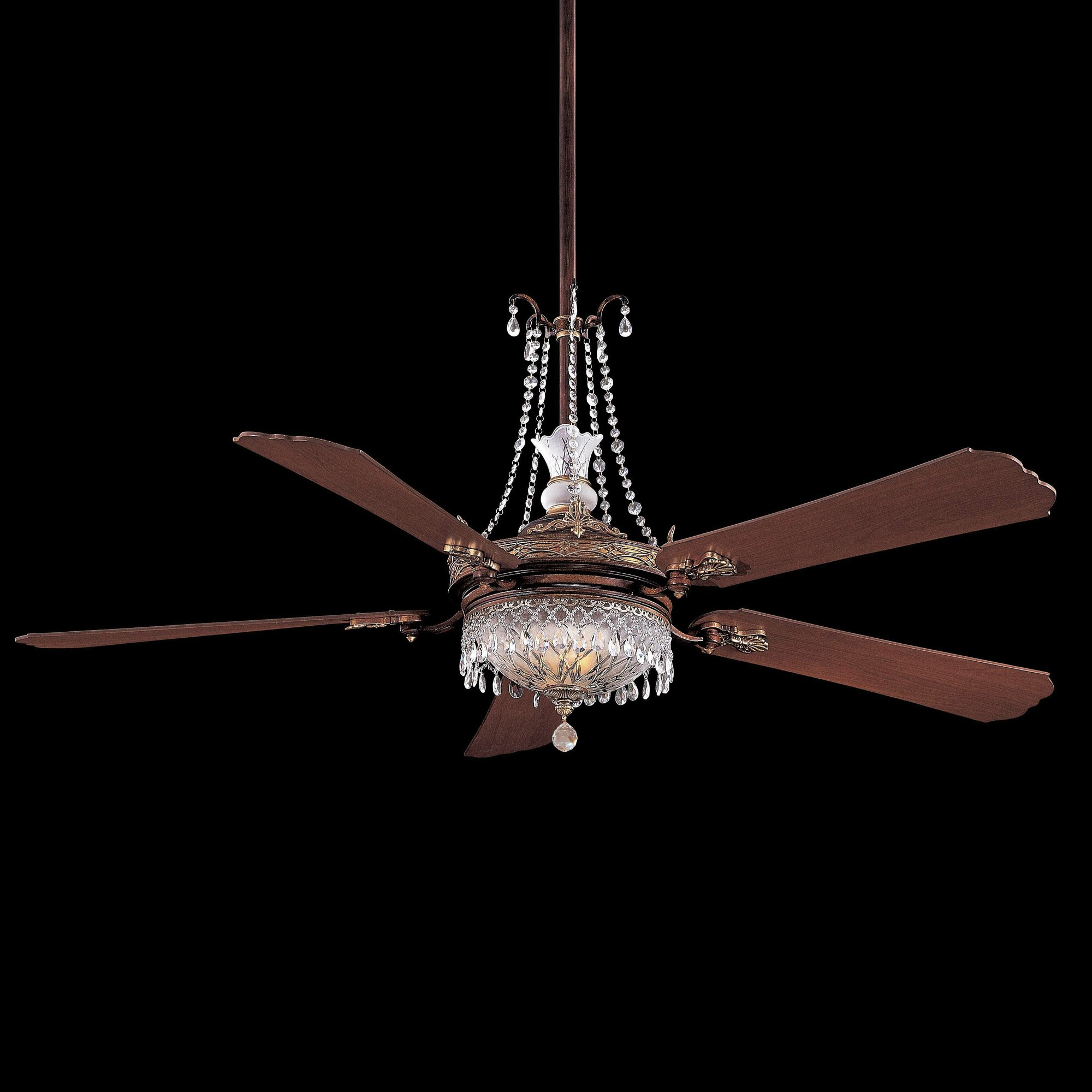 Crystal Ceiling Fan: Minka Aire Crystal Draping Set For Cristafano Chandelier