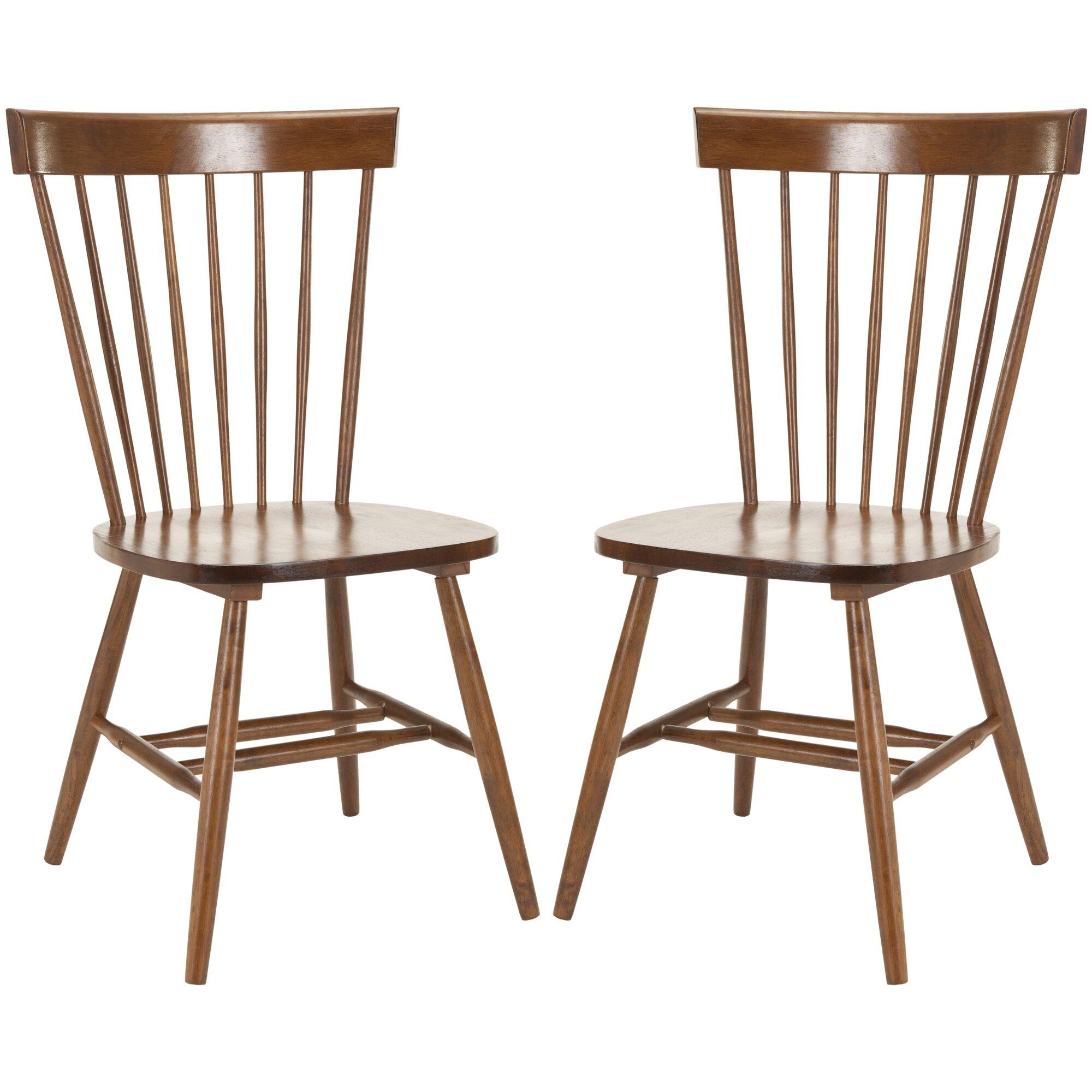 Solid Wood Dining Chairs: Lark Manor Saint-Pierre Solid Wood Dining Chair & Reviews