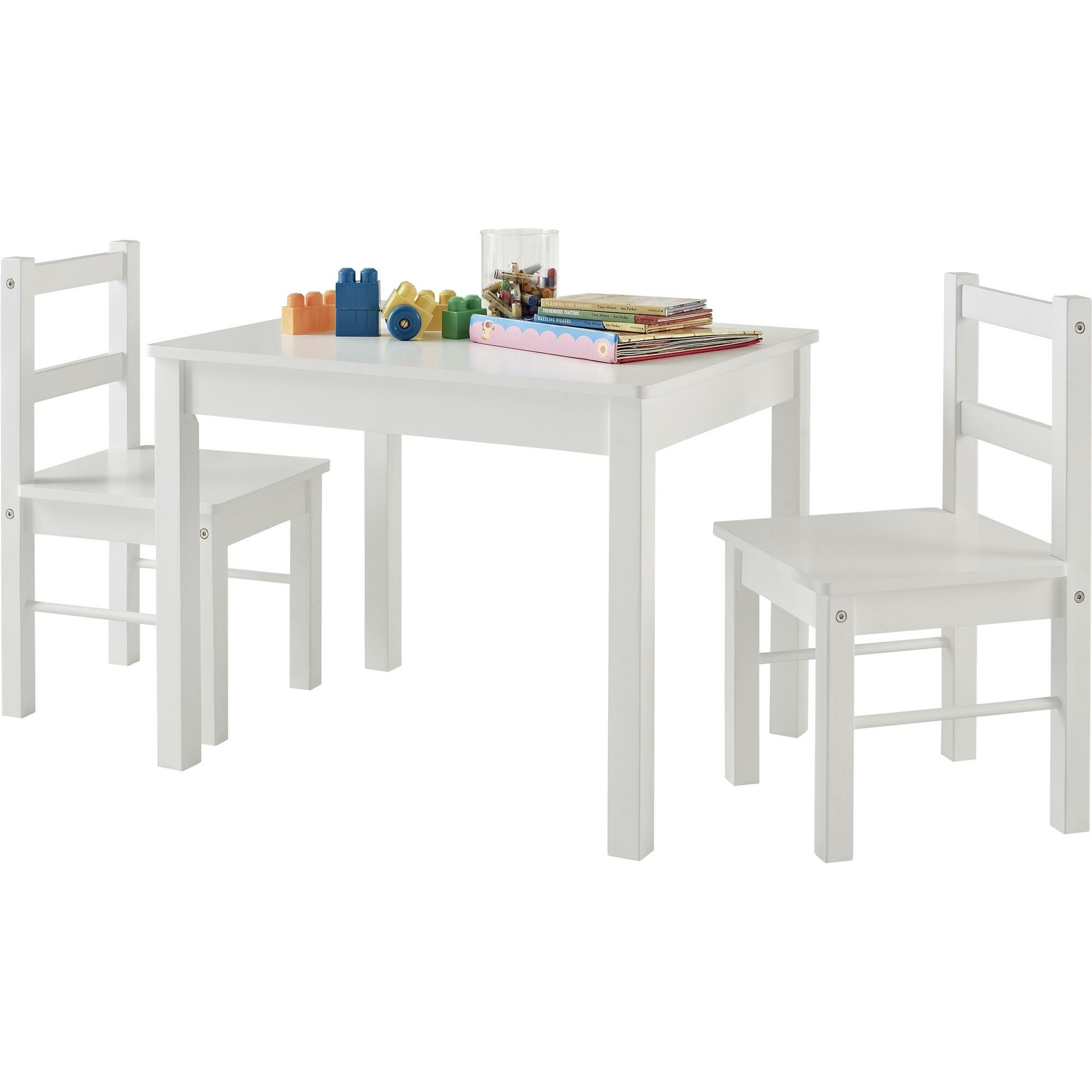Suri Kids 3 Piece Rectangle Table And Chair Set Amp Reviews