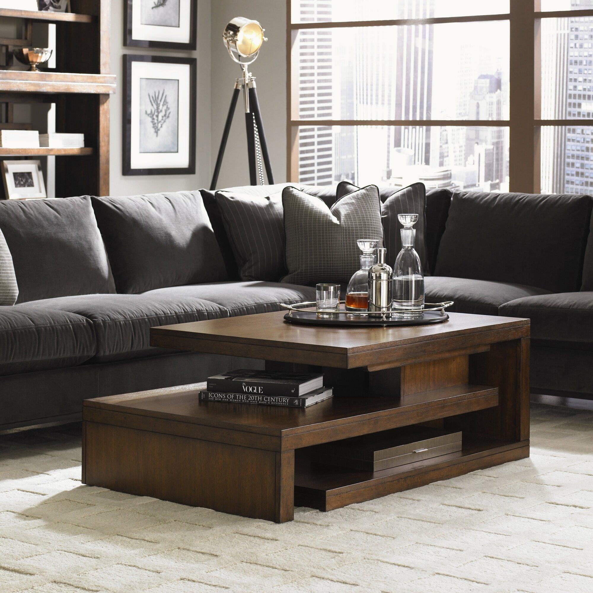 lexington 11 south cascade coffee table reviews wayfair. Black Bedroom Furniture Sets. Home Design Ideas