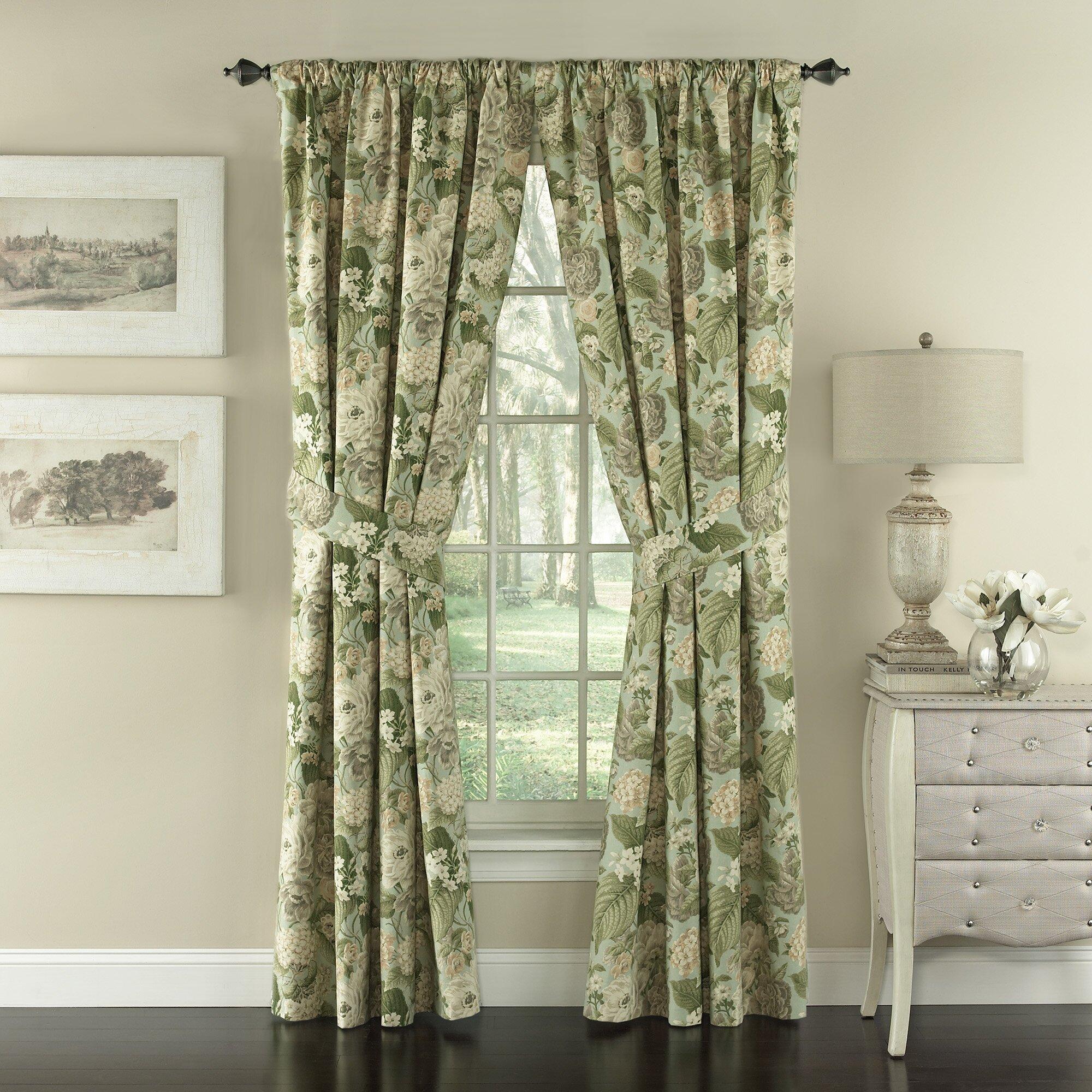 Kitchen Curtains In Kenya: Waverly Garden Glory Nature/Floral Semi-Sheer Rod Pocket