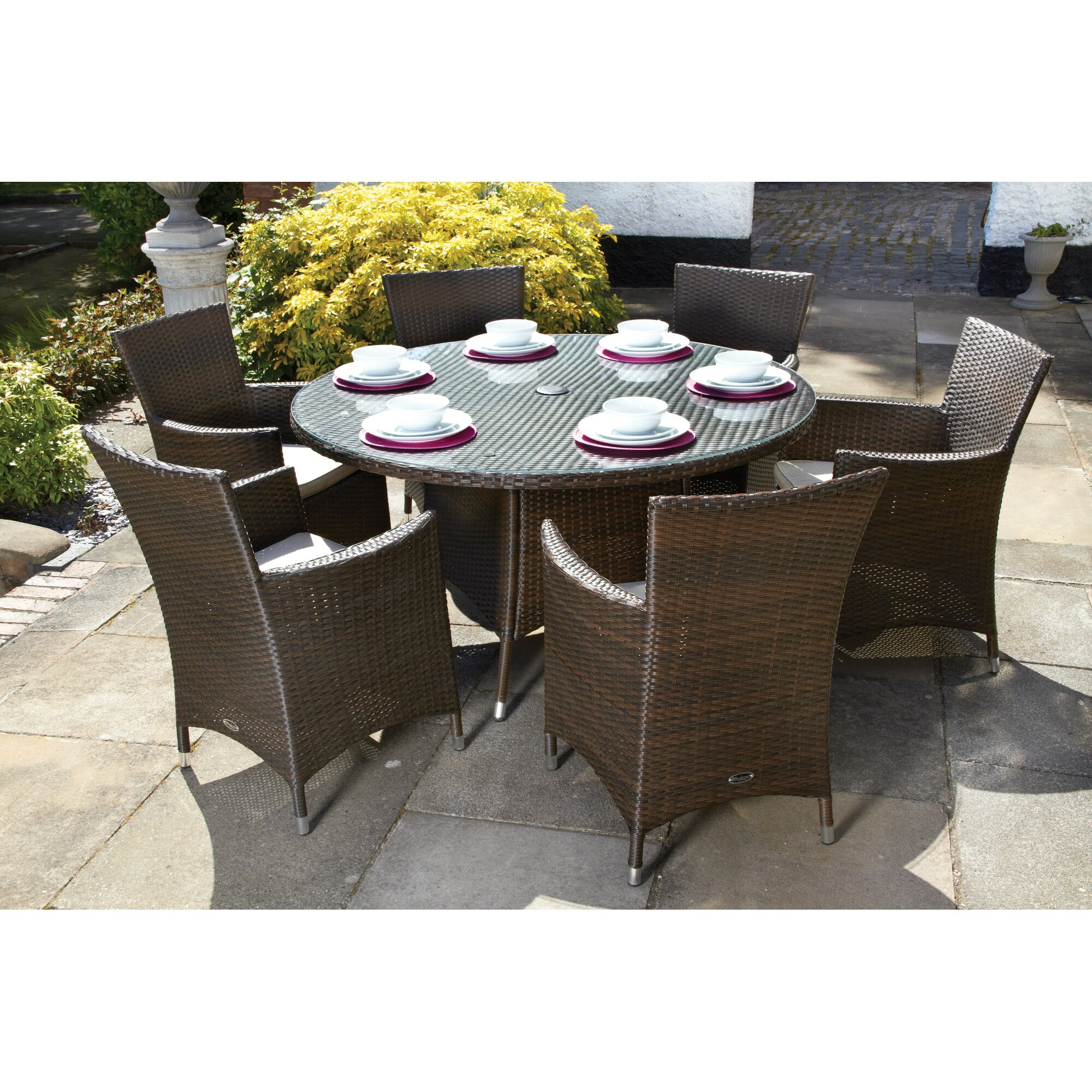 Cannes 6 Seater Dining Set with Cushions. Royal Craft Cannes 6 Seater Dining Set with Cushions   Reviews