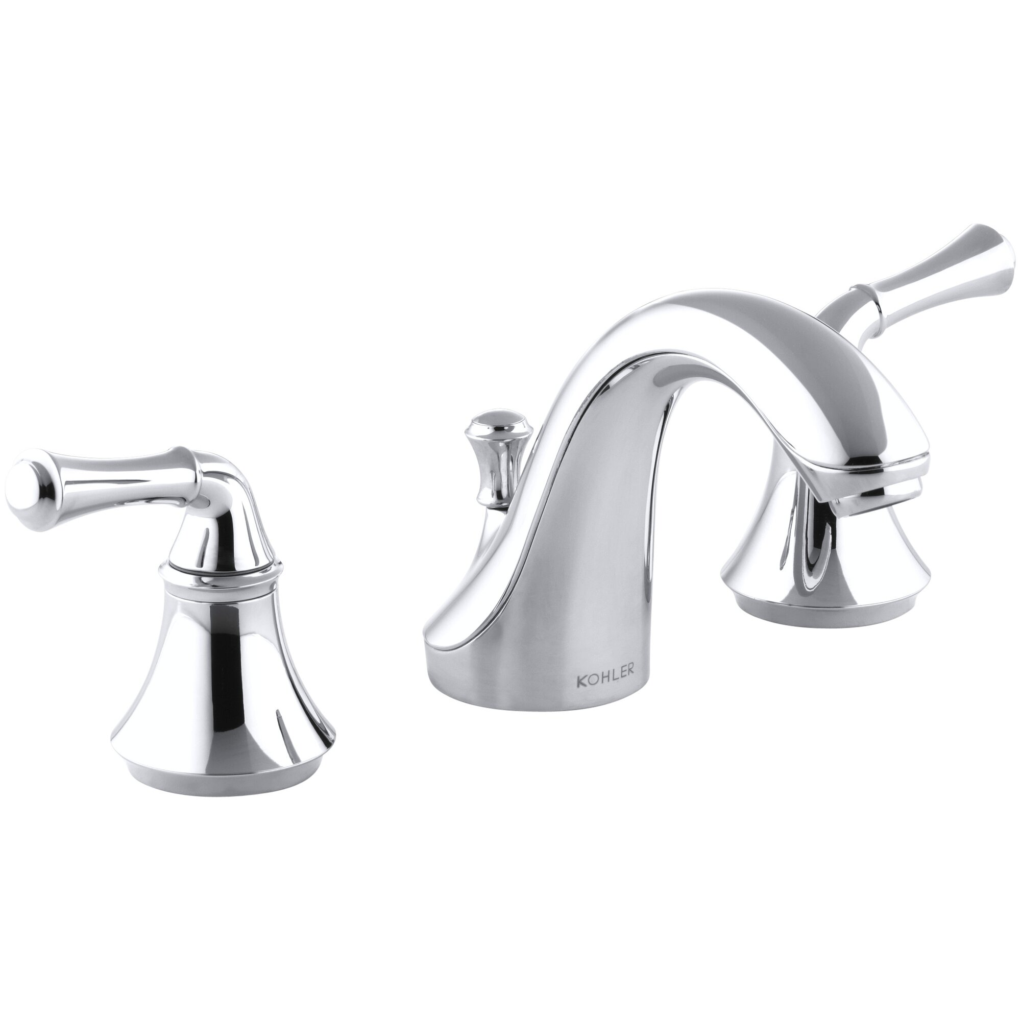 Kohler Forté Widespread Bathroom Sink Faucet with Traditional ...