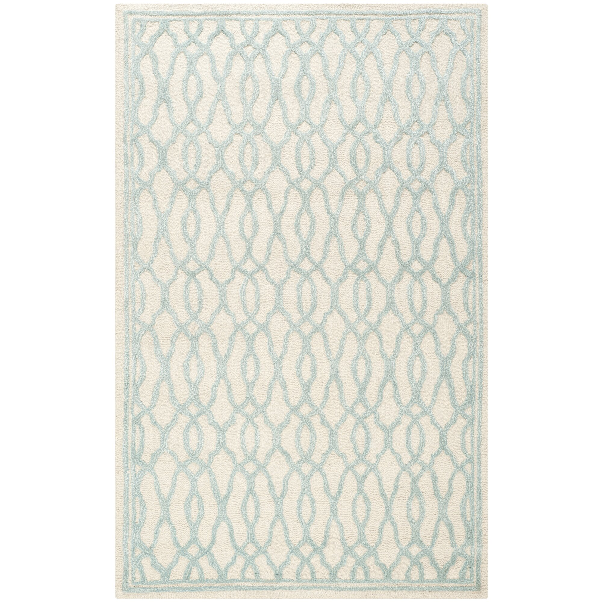 Martha Stewart Rugs Martha Stewart Hand Tufted Ivory Blue Area Rug Reviews Wayfair