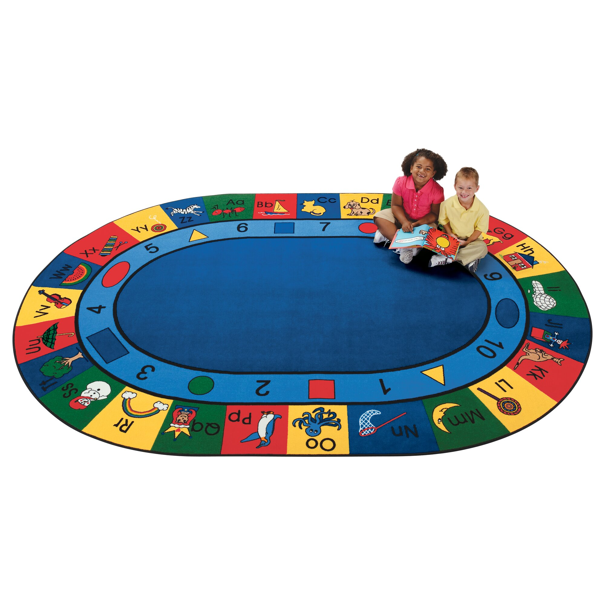 Oval Office Rug Carpets For Kids Printed Blocks Of Fun Area Rug Amp Reviews