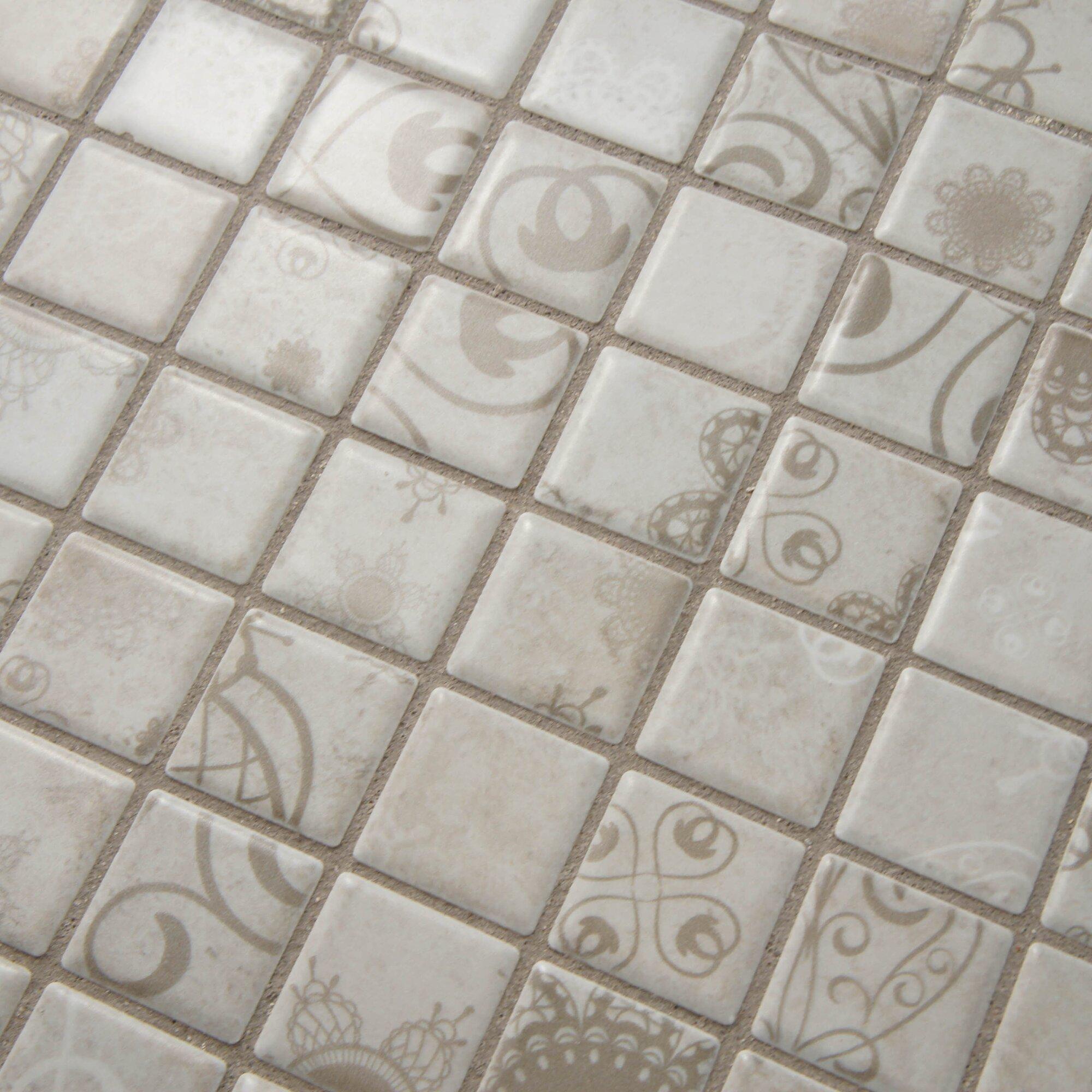1 Inch White Hexagon Gloss Floor Tile