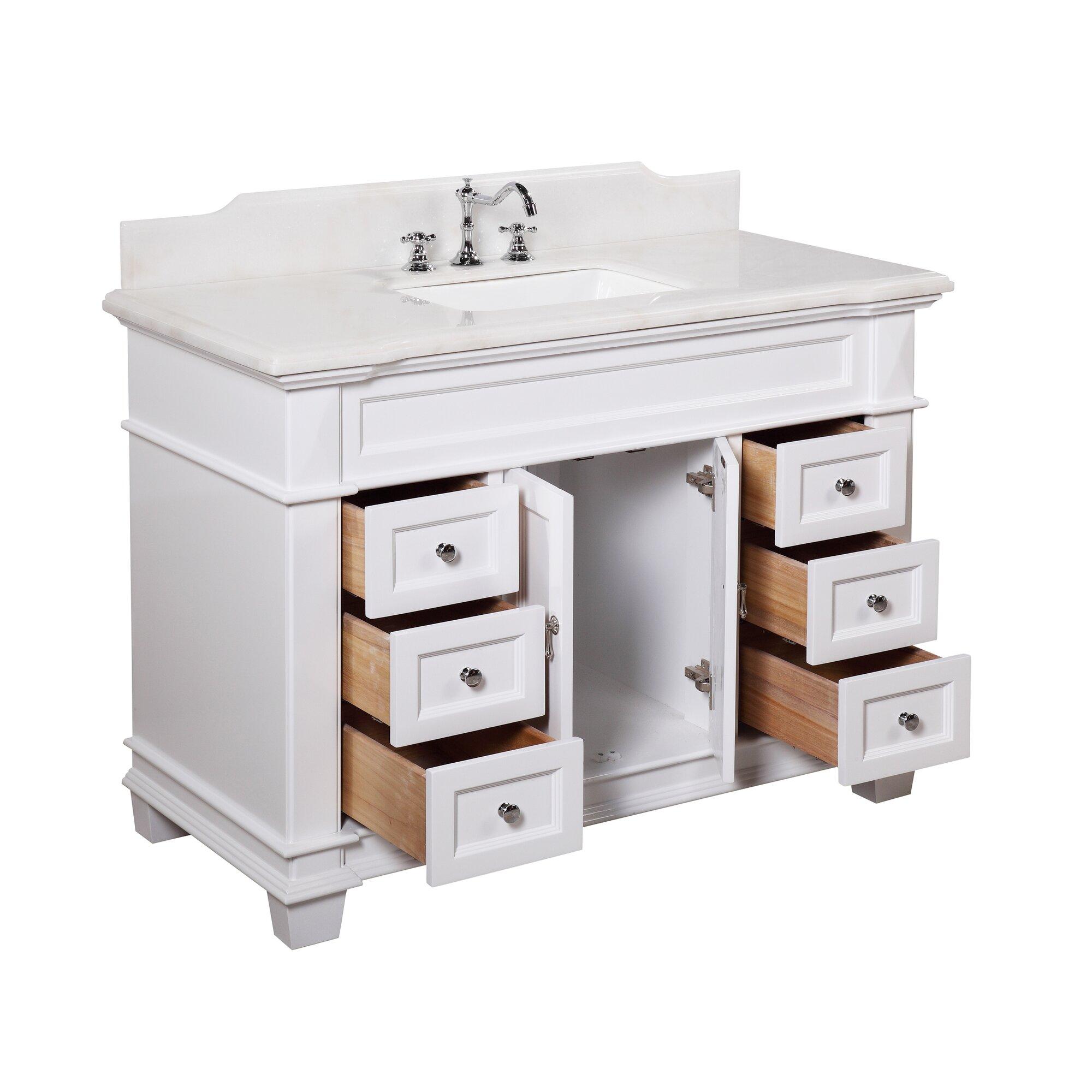 kbc elizabeth 48 single bathroom vanity set reviews wayfair. Black Bedroom Furniture Sets. Home Design Ideas