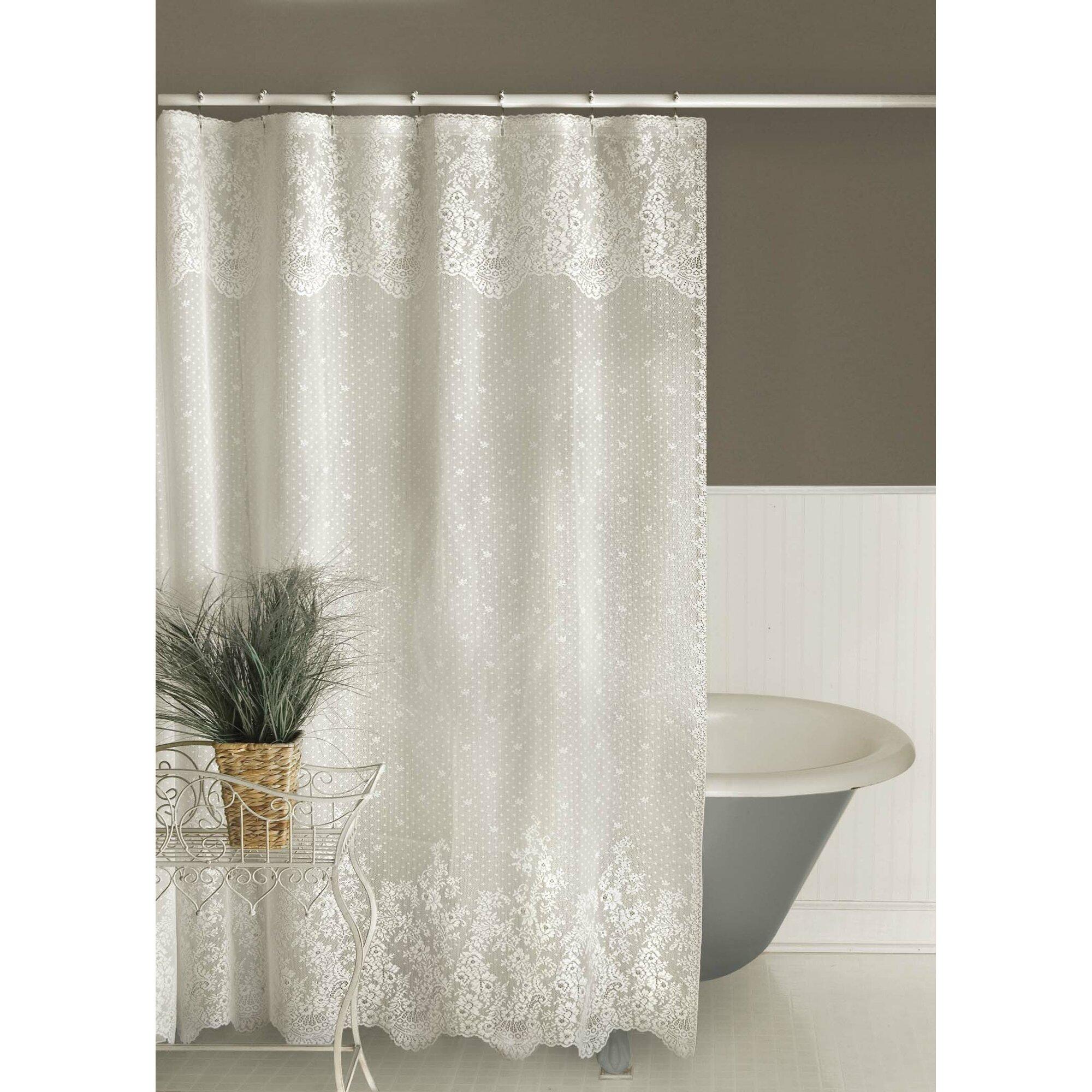 Astoria Grand Victor Shower Curtain  Reviews Wayfair - Beige and gray shower curtain