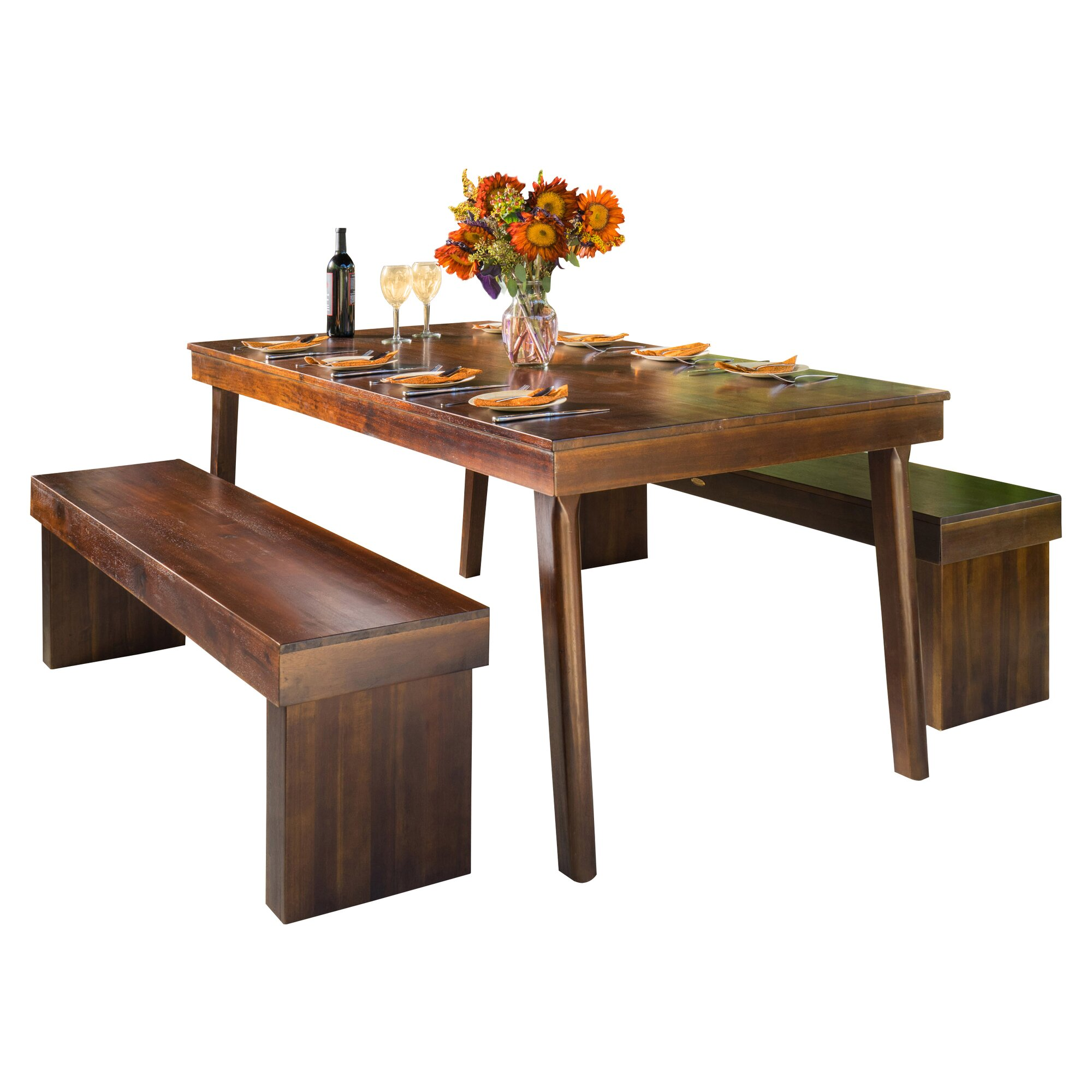 3 Piece Dining Room Set: Home Loft Concepts Kennedy 3 Piece Dining Set & Reviews