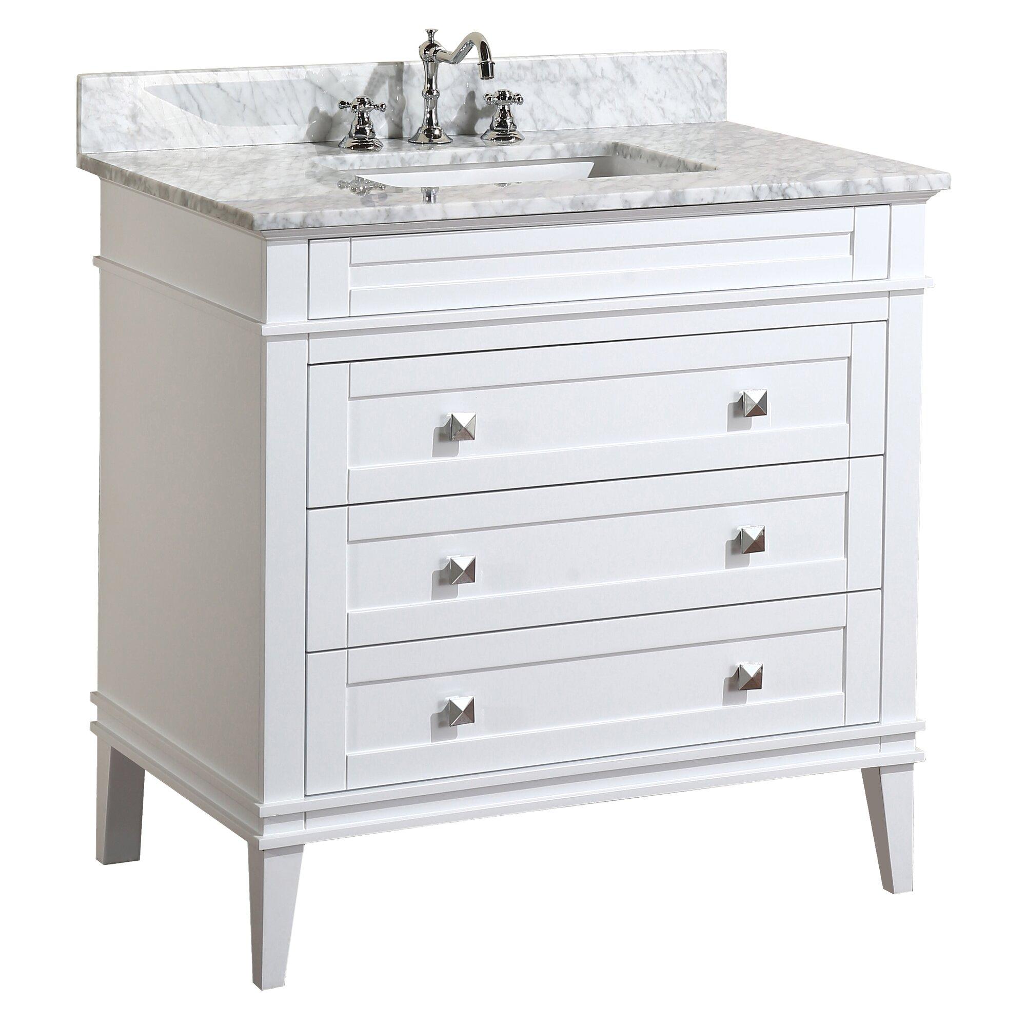 """KBC Eleanor 36"""" Single Bathroom Vanity Set & Reviews"""
