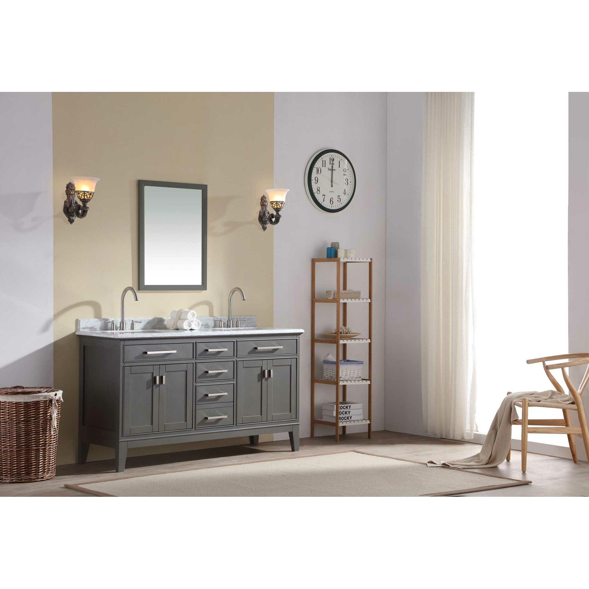 danny 60 double bathroom vanity set - Bathroom Vanity Double
