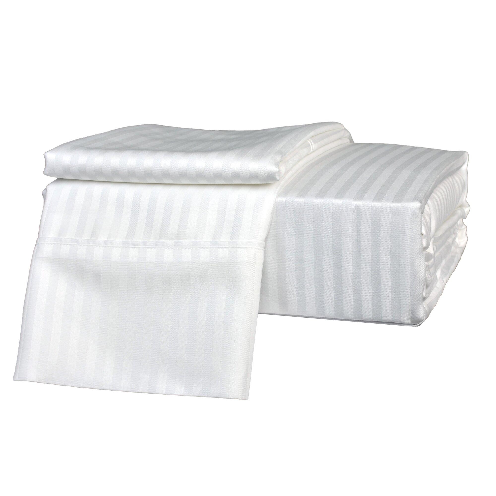 600 plus thread count egyptian quality cotton sateen premium sheet set reviews allmodern. Black Bedroom Furniture Sets. Home Design Ideas