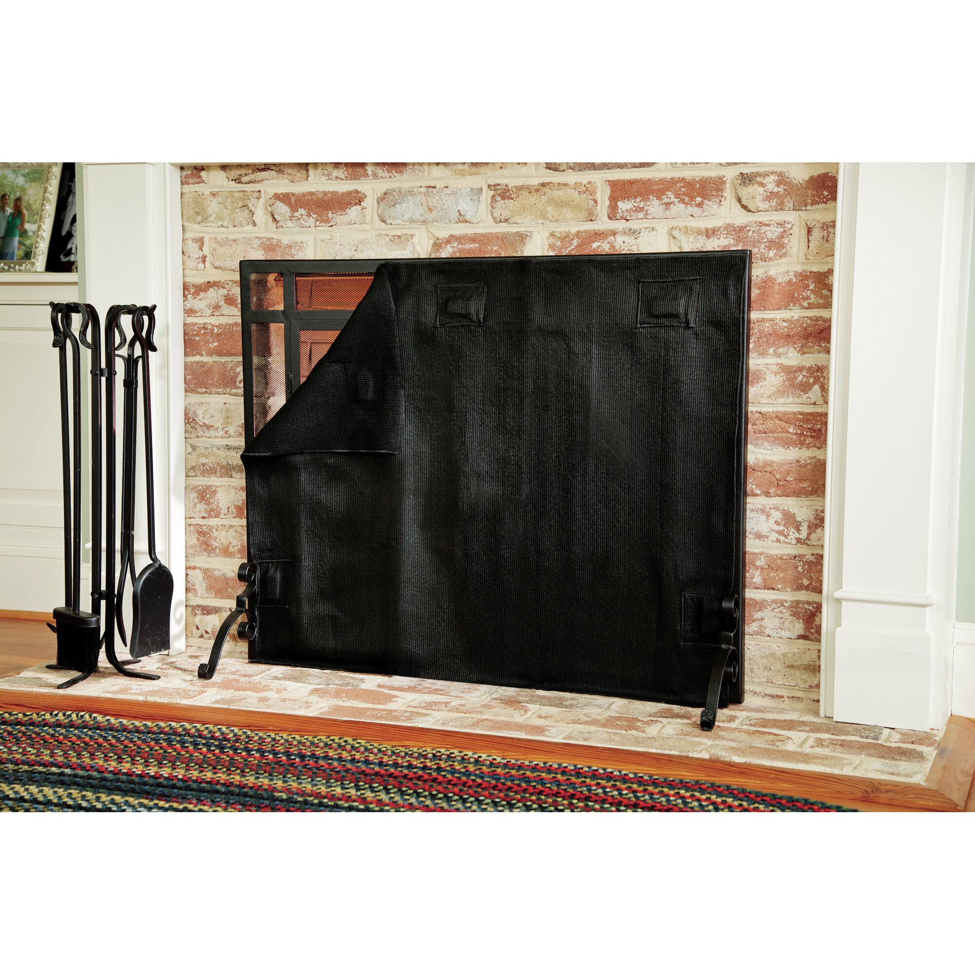 Plow Hearth Fireplace Blanket Reviews Wayfair . Fireplace Night Guard .