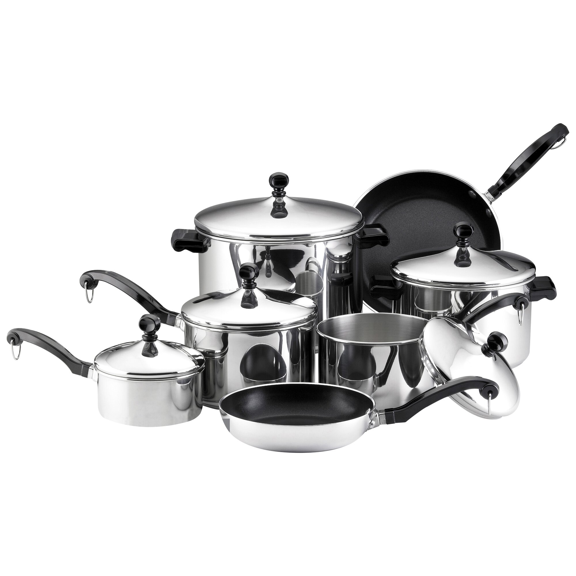 Farberware Classic Stainless Steel 15 Piece Cookware Set ...