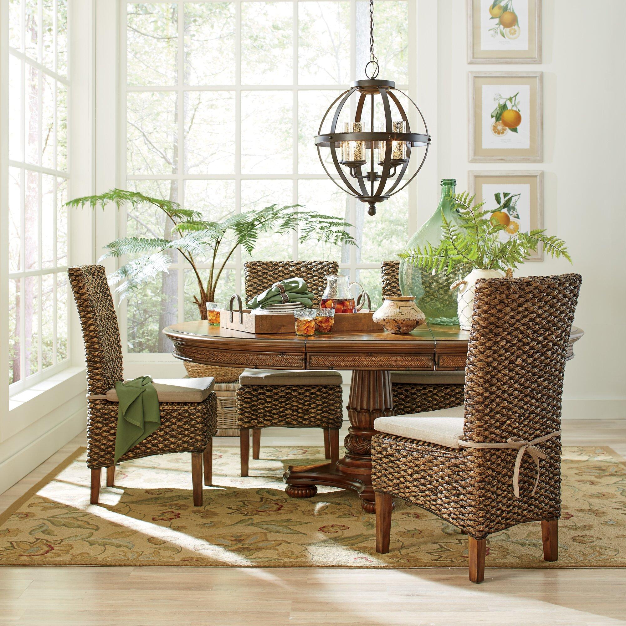Birch Lane™ Woven Seagrass Side Chairs & Reviews | Wayfair