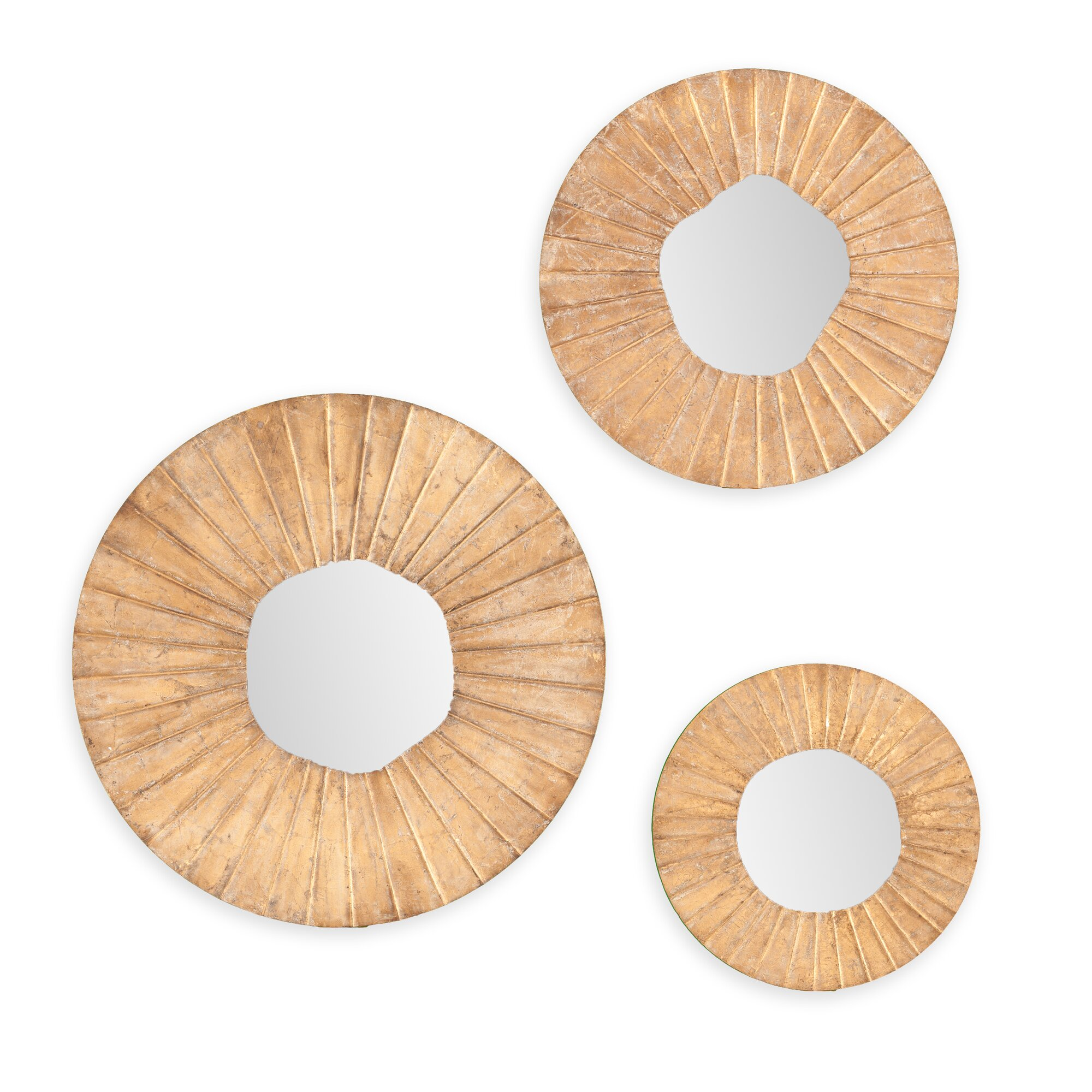 3piece astoria round wall mirror set