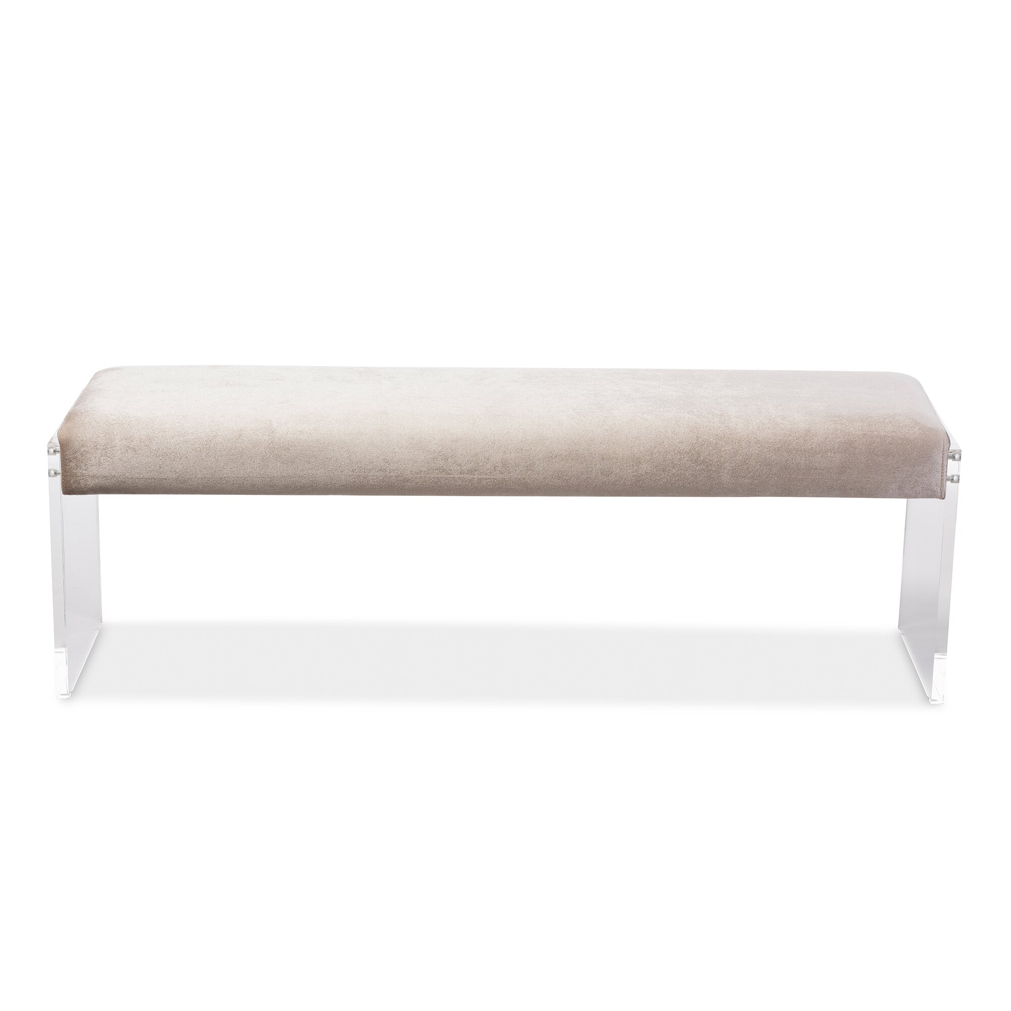 Bedroom bench with arms - Baxton Studio Hildon Upholstered Bedroom Bench
