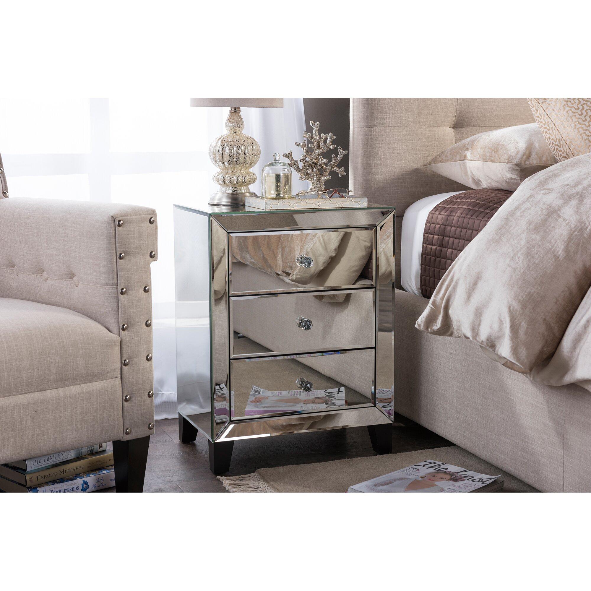 Wholesale interiors baxton studio chevron 3 drawer for Baxton studio