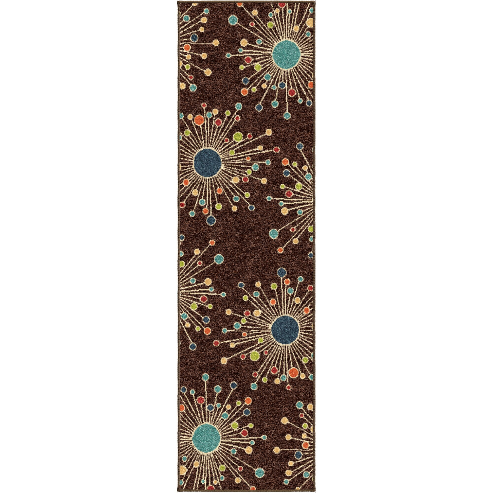 Threadbind Walton Retro Fit Brown Indoor Outdoor Area Rug