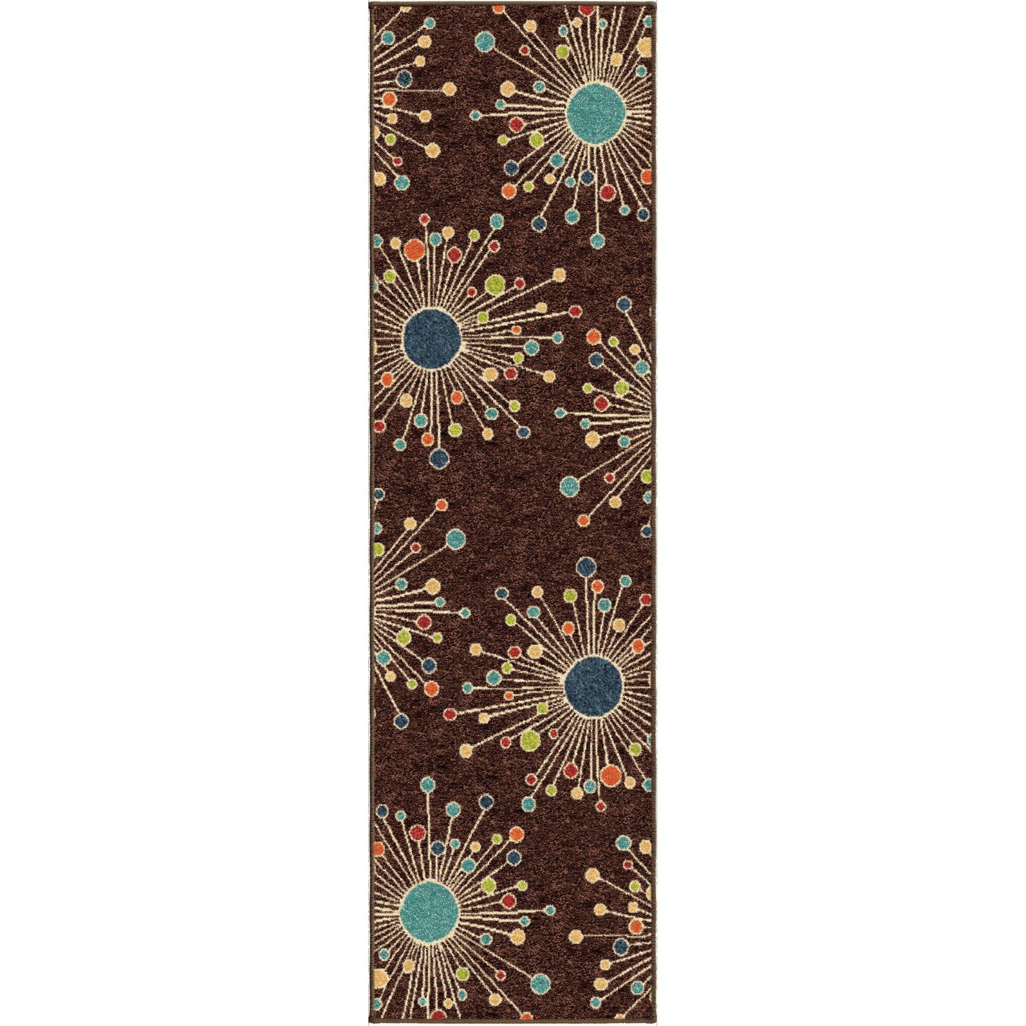 Threadbind walton retro fit brown indoor outdoor area rug for Landscape indoor area rug