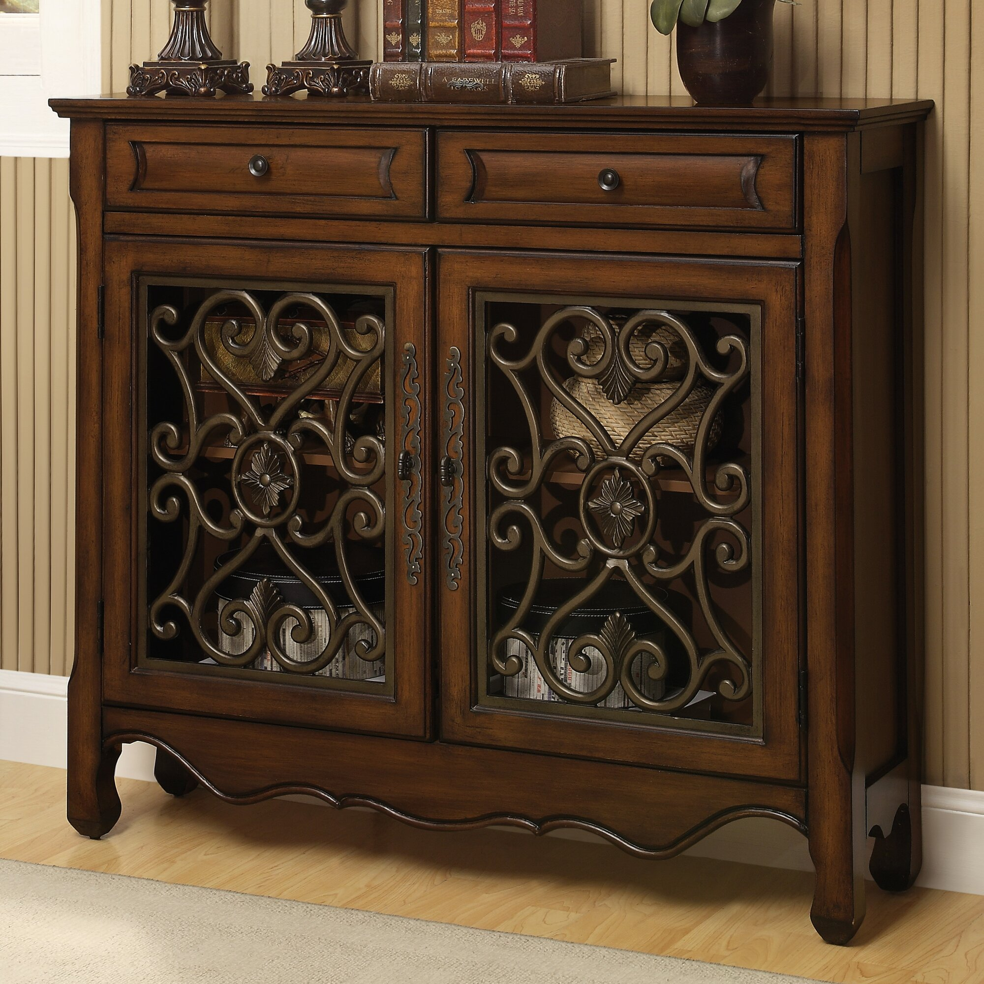 Rosalind Wheeler Ellison 2 Drawer 2 Door Cabinet Amp Reviews