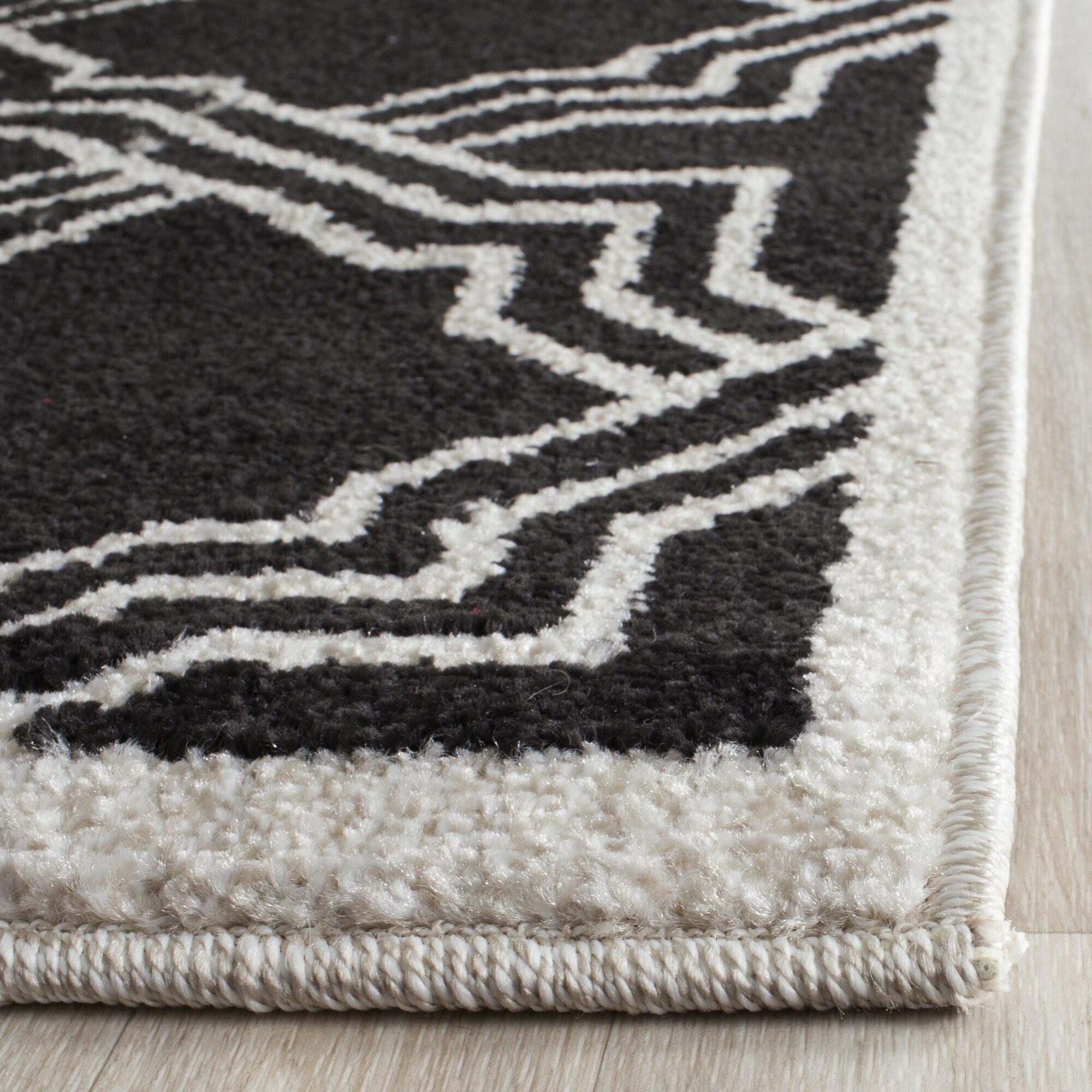 Safavieh dakota anthracite ivory indoor outdoor area rug for Indoor outdoor rugs uk